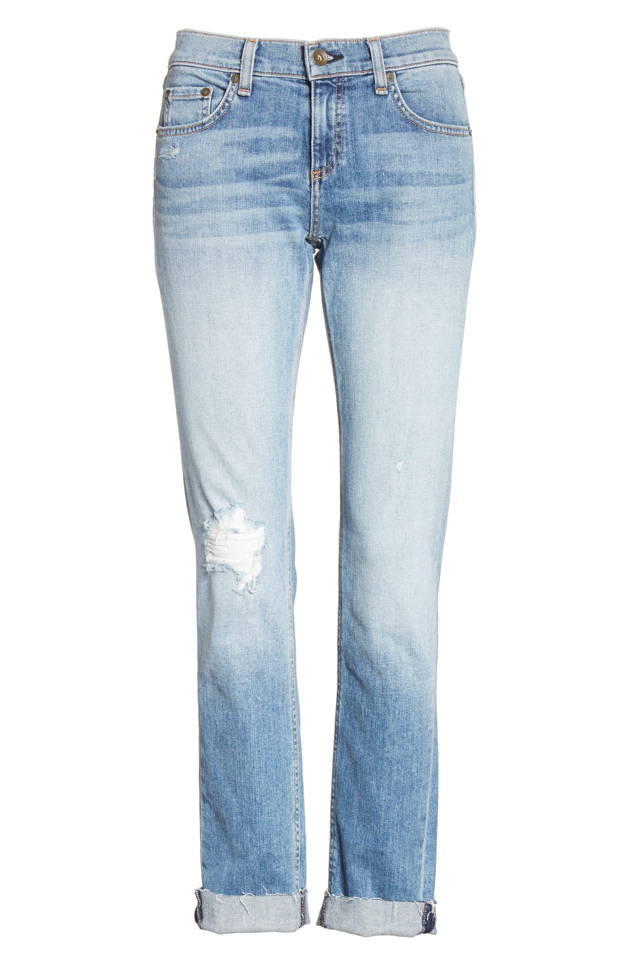 The Dre Slim Boyfriend Jeans,                             Alternate thumbnail 6, color,