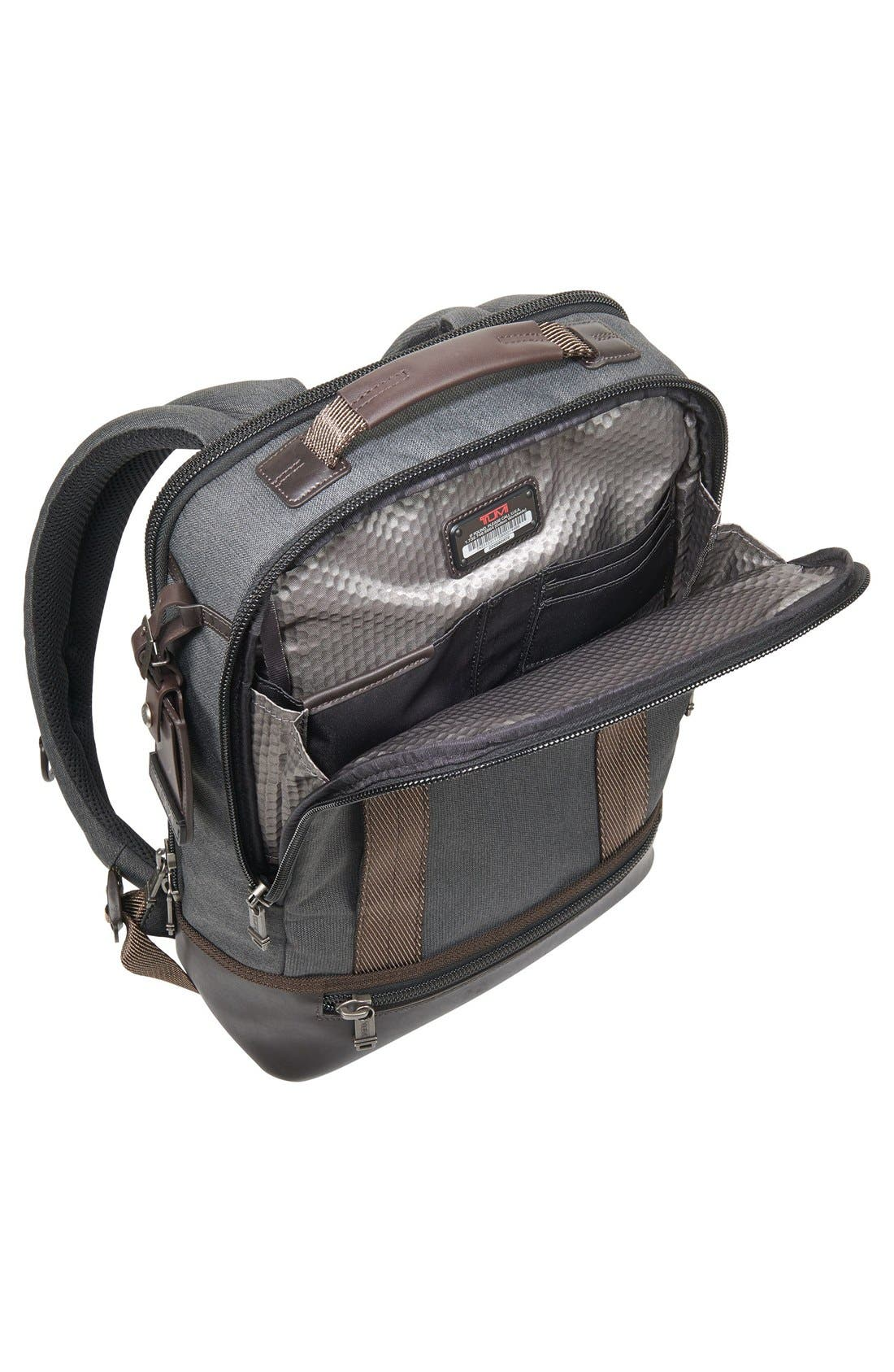 TUMI,                             Alpha Bravo Dover Backpack,                             Alternate thumbnail 3, color,                             010