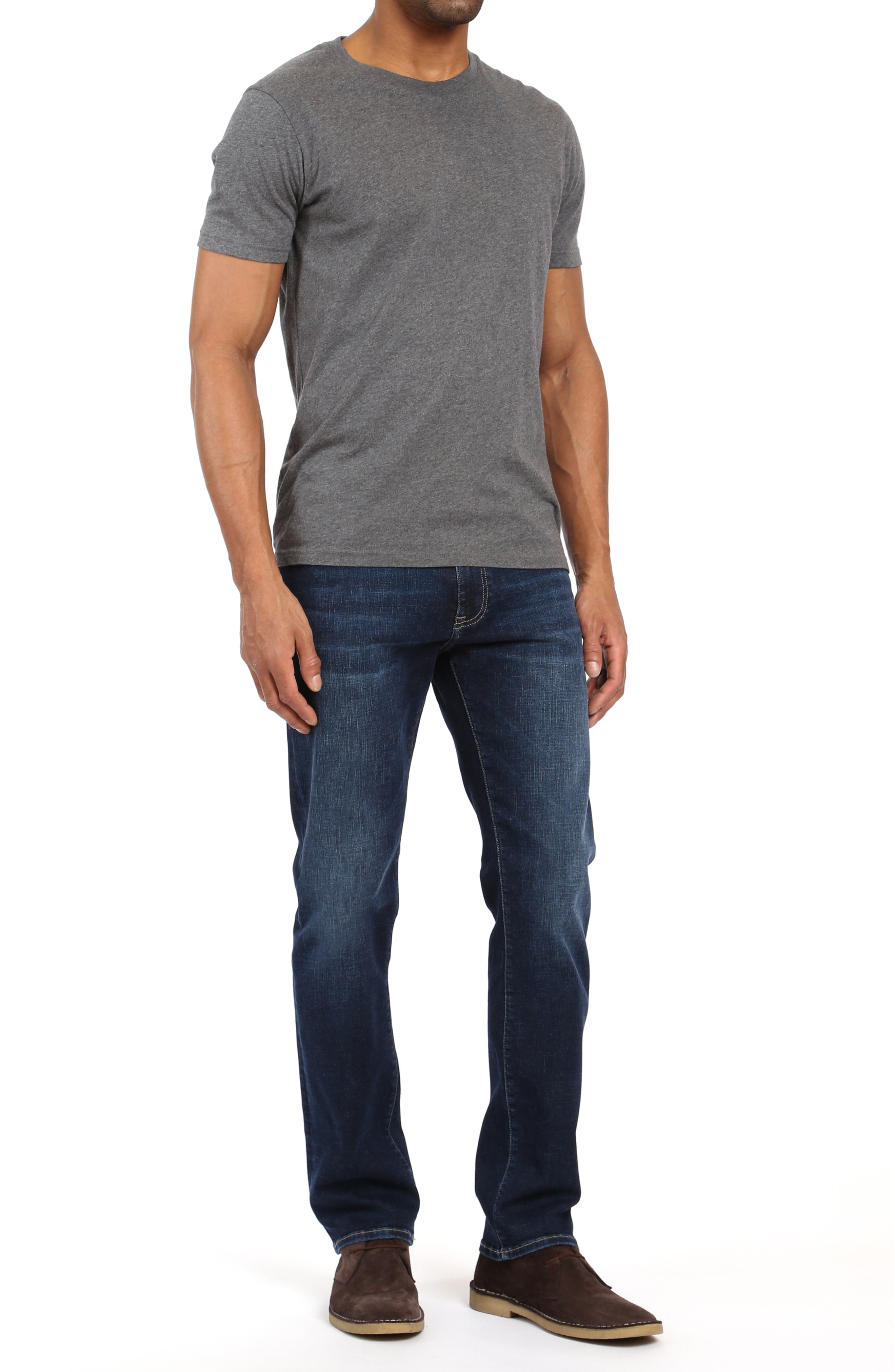 Marcus Slim Straight Leg Jeans,                             Alternate thumbnail 4, color,                             DEEP BRUSHED CASHMERE
