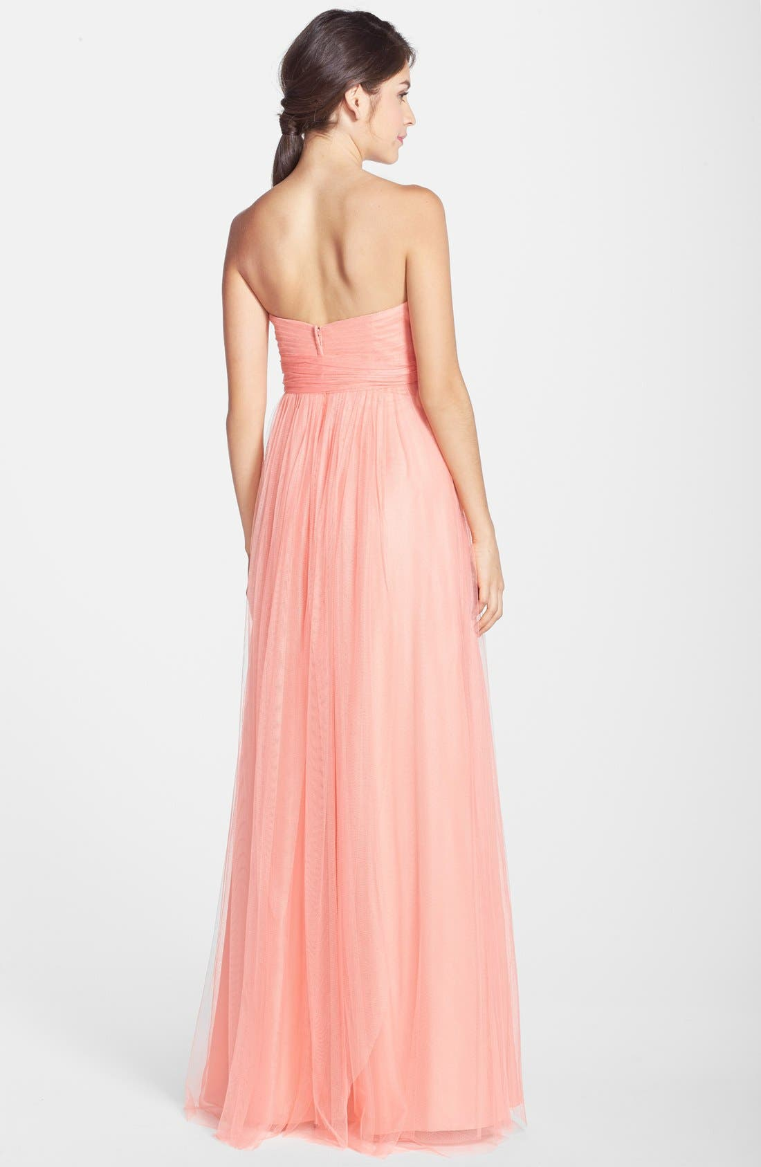 Annabelle Convertible Tulle Column Dress,                             Alternate thumbnail 115, color,