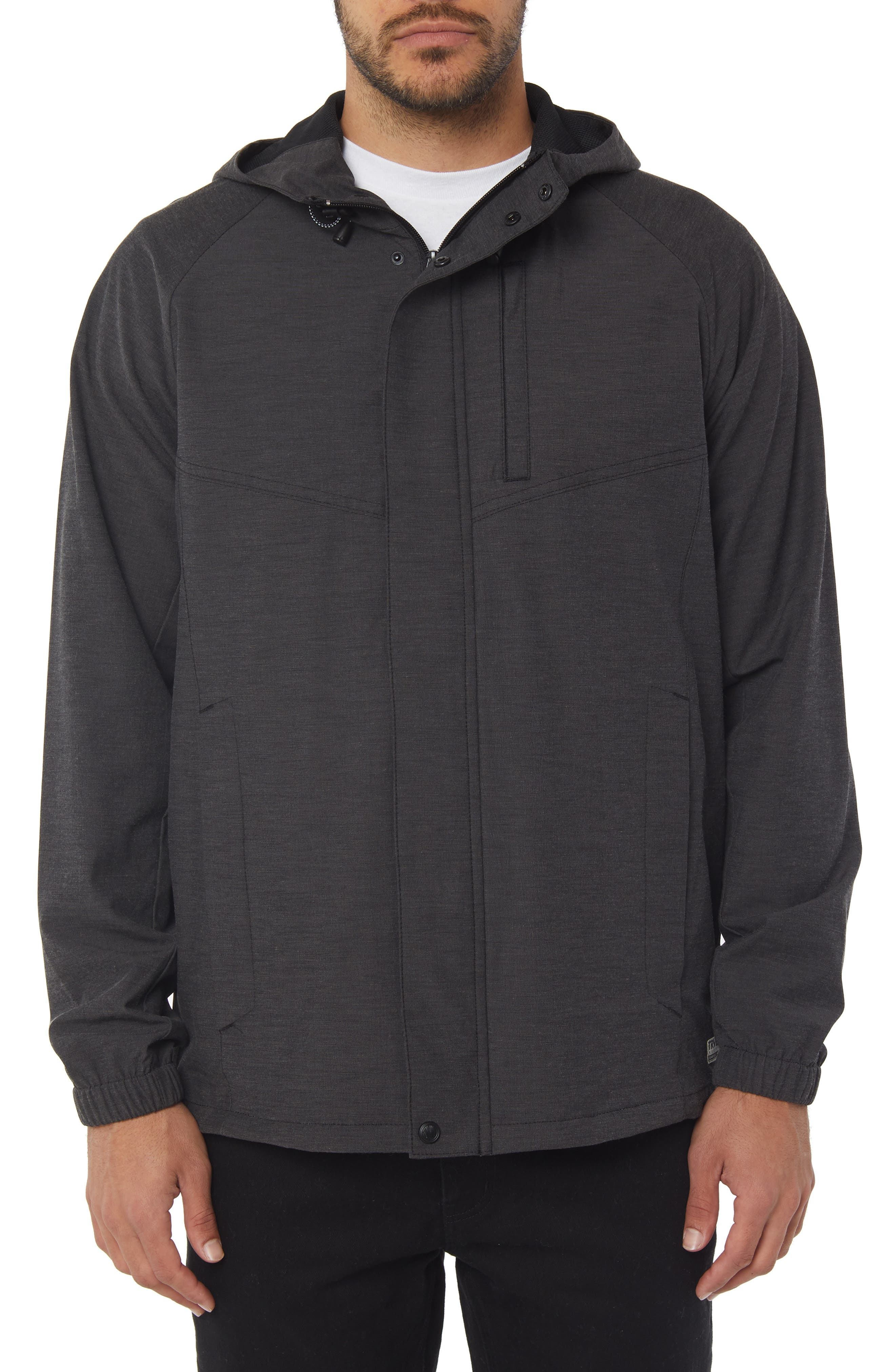 Traveler Dawn Patrol Jacket,                         Main,                         color, BLACK