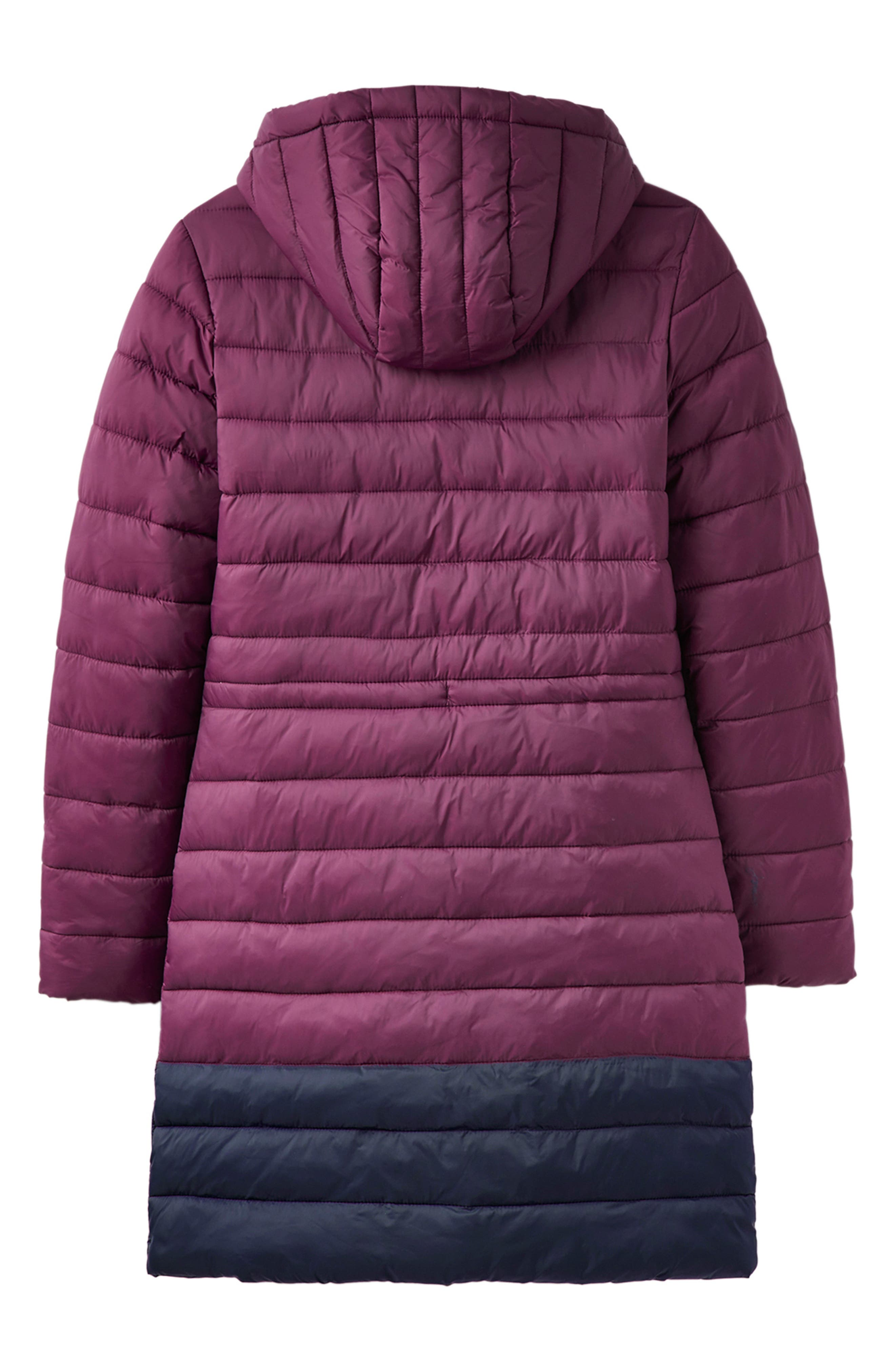 JOULES,                             Heathcote Two-Tone Puffer Jacket,                             Alternate thumbnail 7, color,                             BURGUNDY