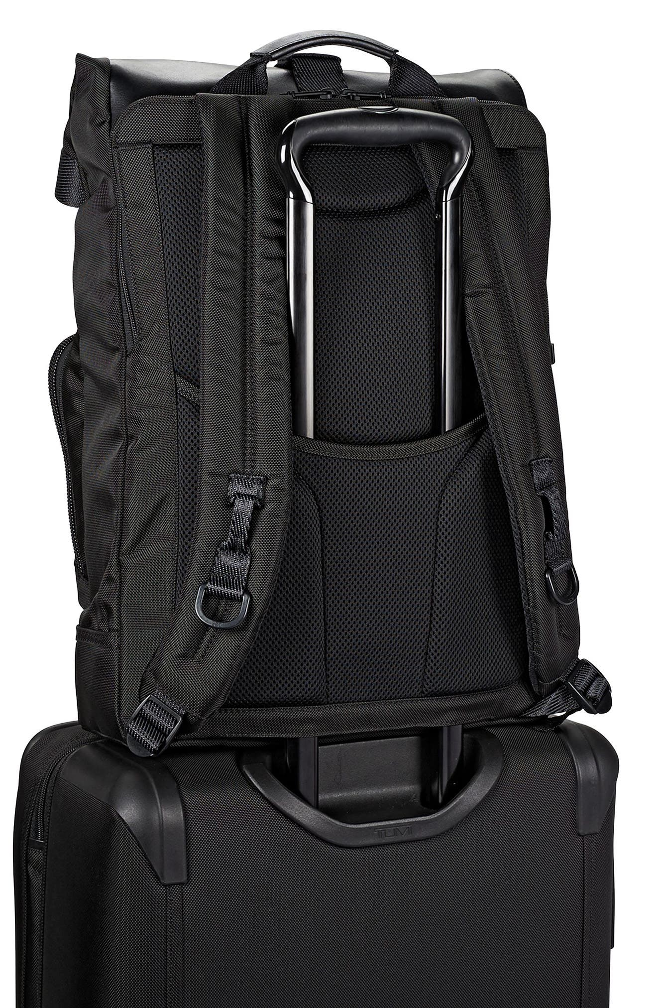 Alpha Bravo - London Backpack,                             Alternate thumbnail 2, color,                             BLACK