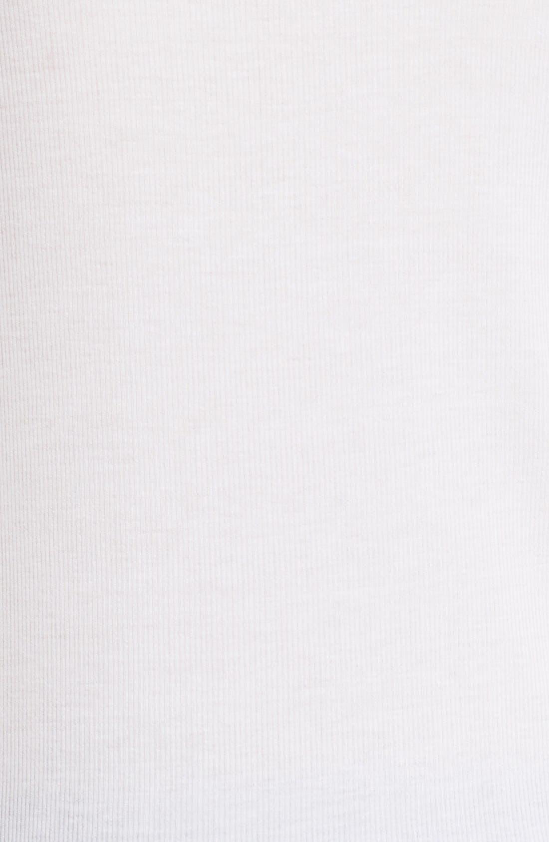 'Jackie' Long Sleeve Tee,                             Alternate thumbnail 5, color,                             WHITE