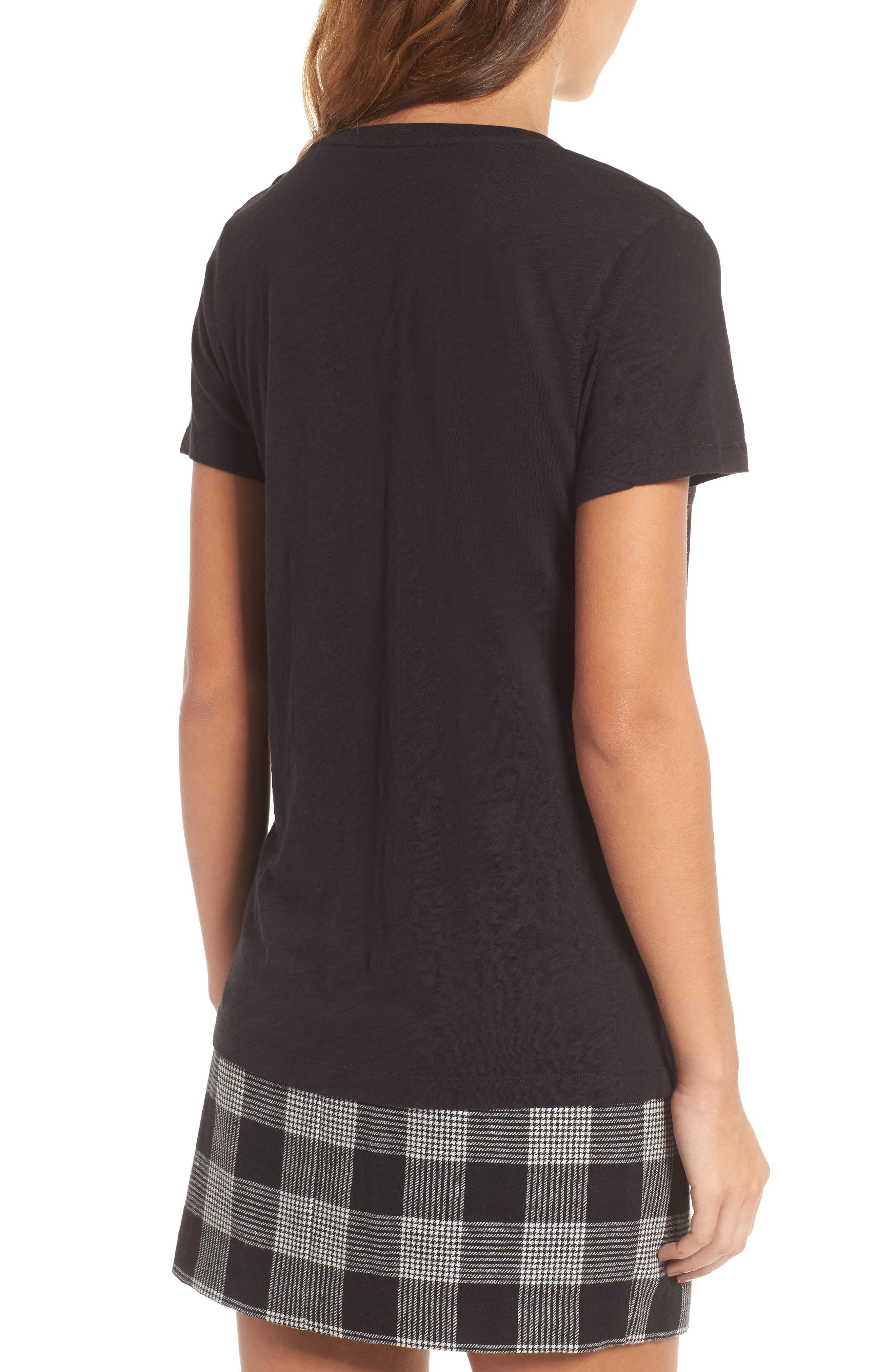 Whisper Cotton V-Neck Pocket Tee,                             Alternate thumbnail 48, color,