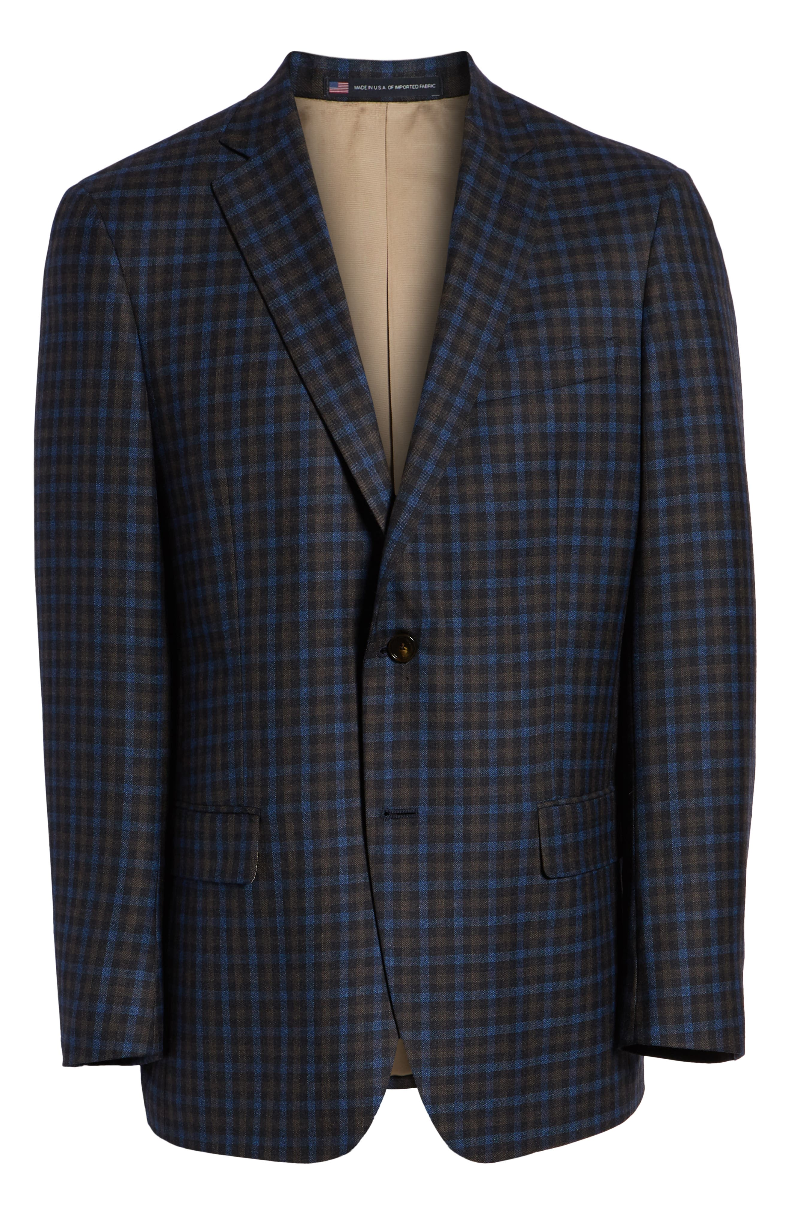 Classic Fit Check Wool Sport Coat,                             Alternate thumbnail 5, color,                             201