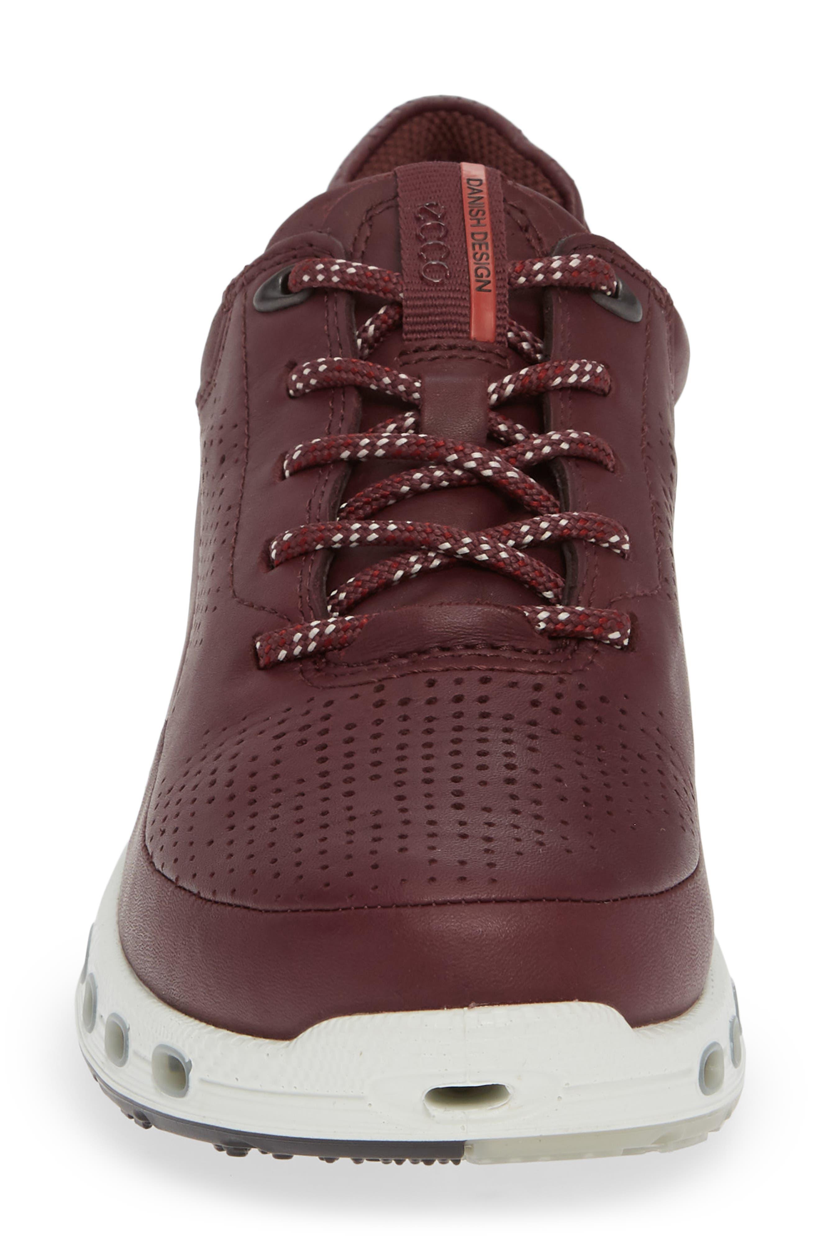 Cool 2.0 GTX Waterproof Sneaker,                             Alternate thumbnail 4, color,                             WINE LEATHER