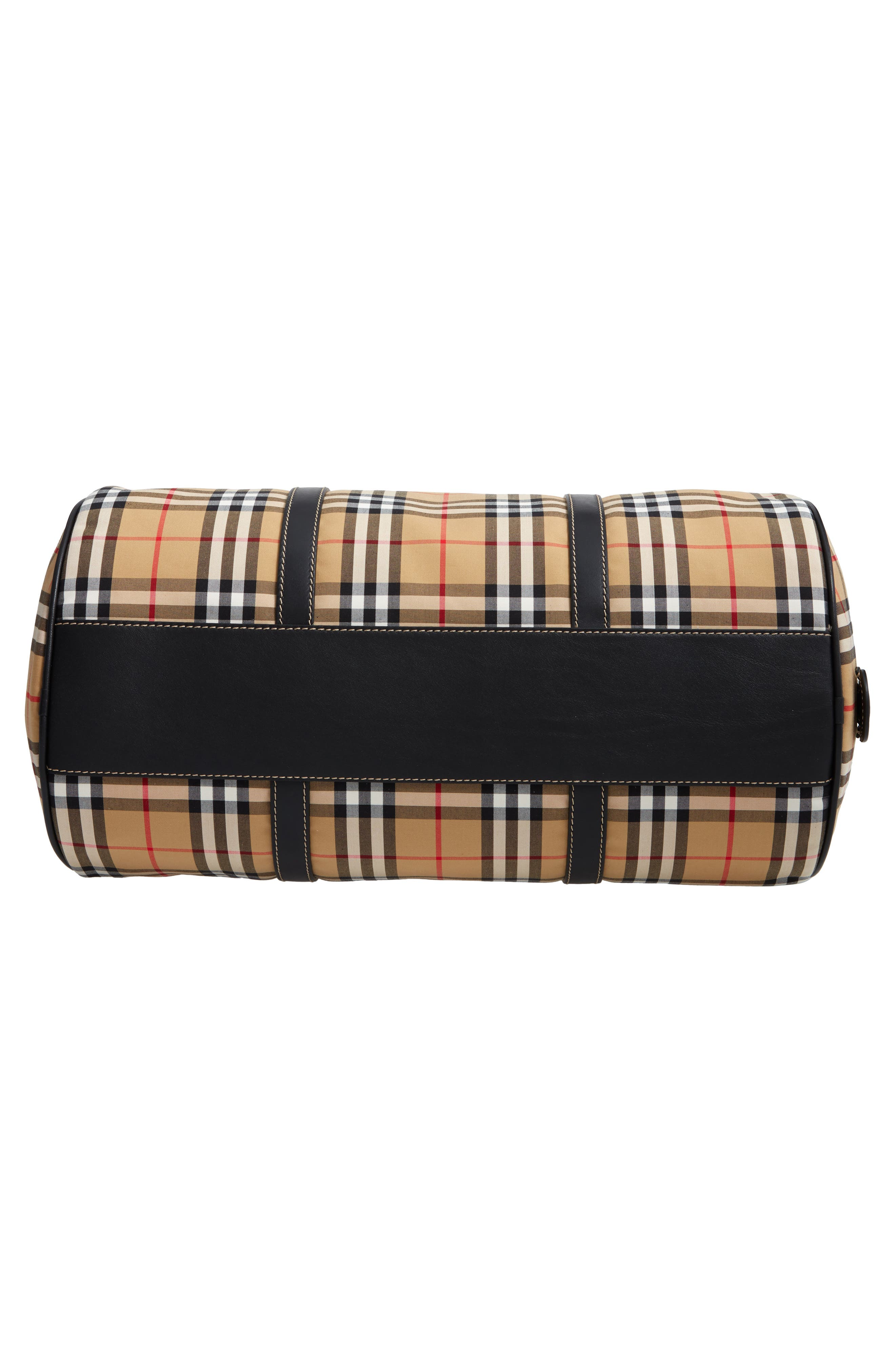 Medium Kennedy Vintage Check Duffel Bag,                             Alternate thumbnail 6, color,                             CANVAS BLUE