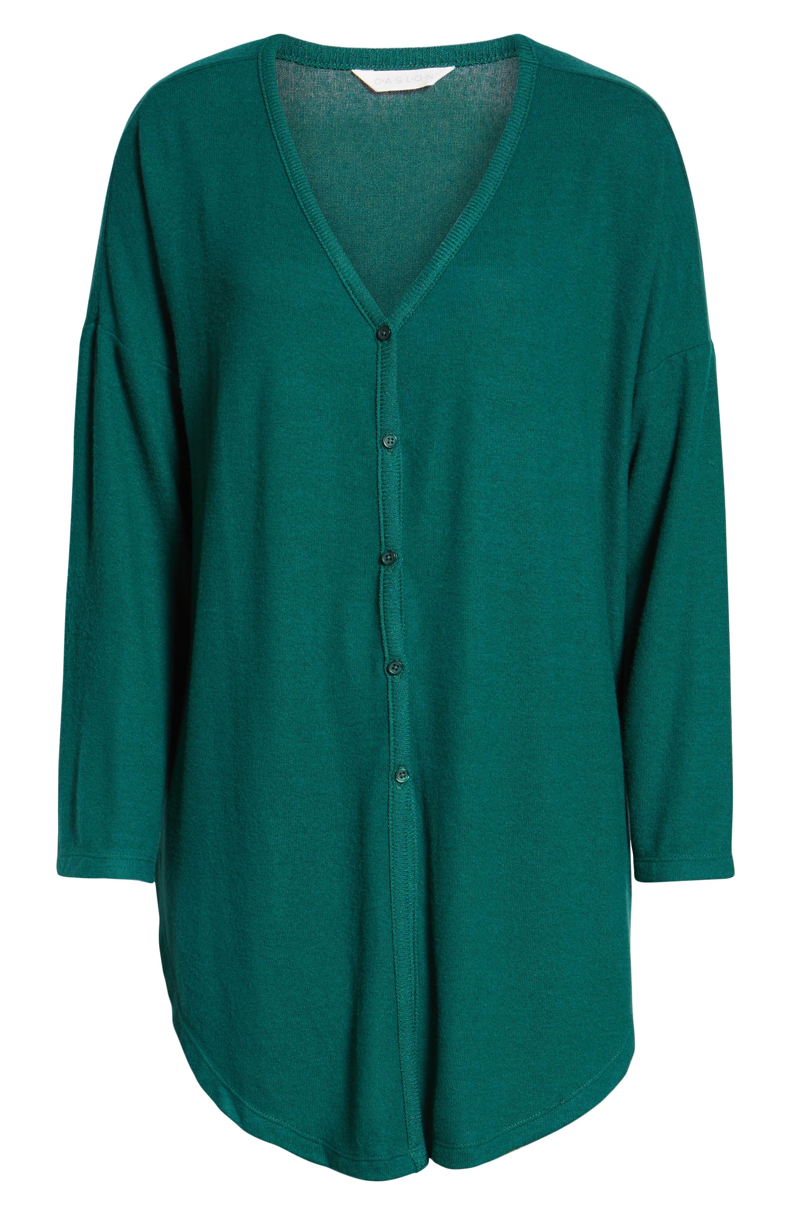 Tie Front Cozy Knit Shirt,                             Alternate thumbnail 6, color,                             301