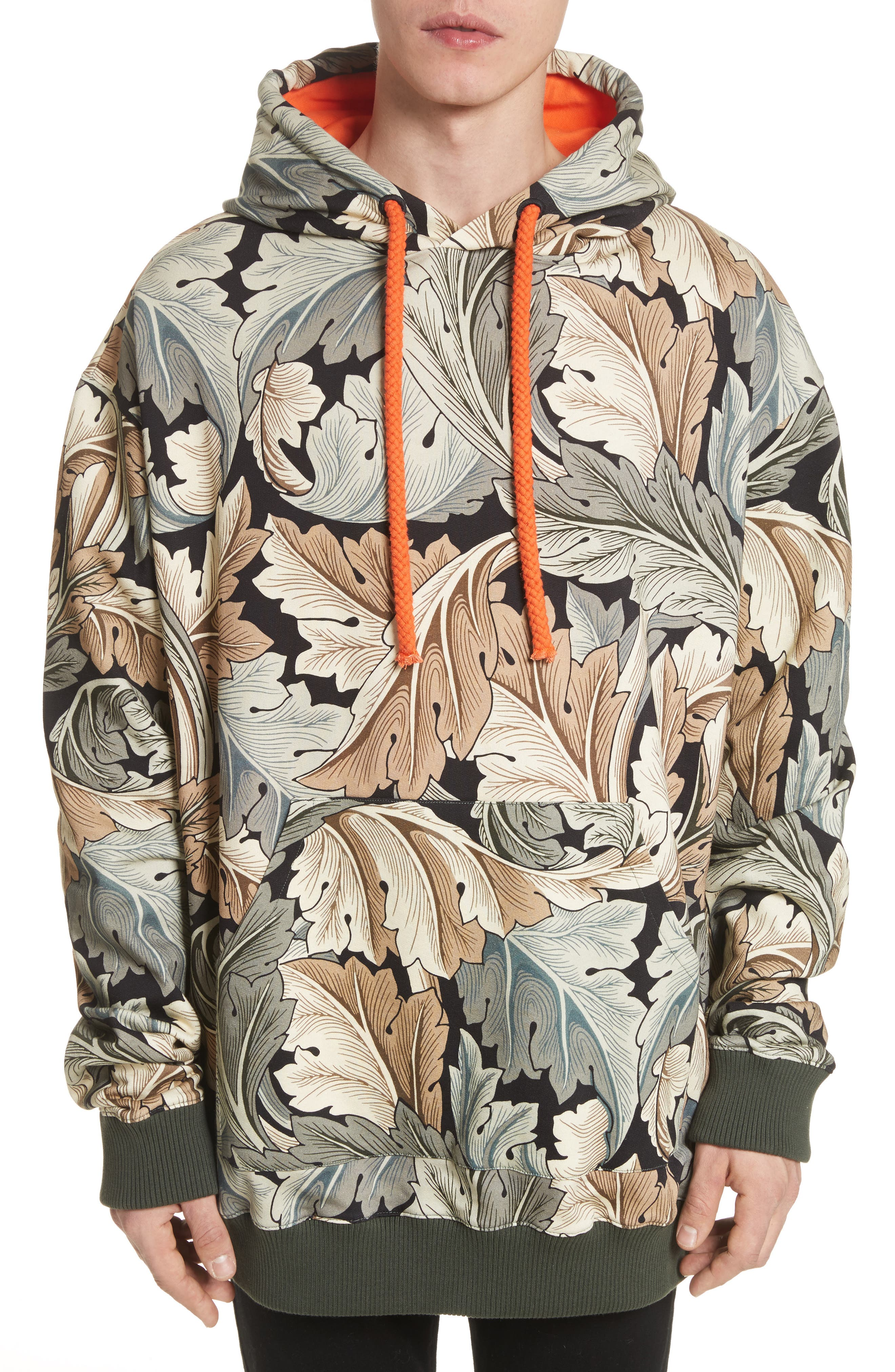 William Morris Print Oversize Hoodie,                         Main,                         color, 100