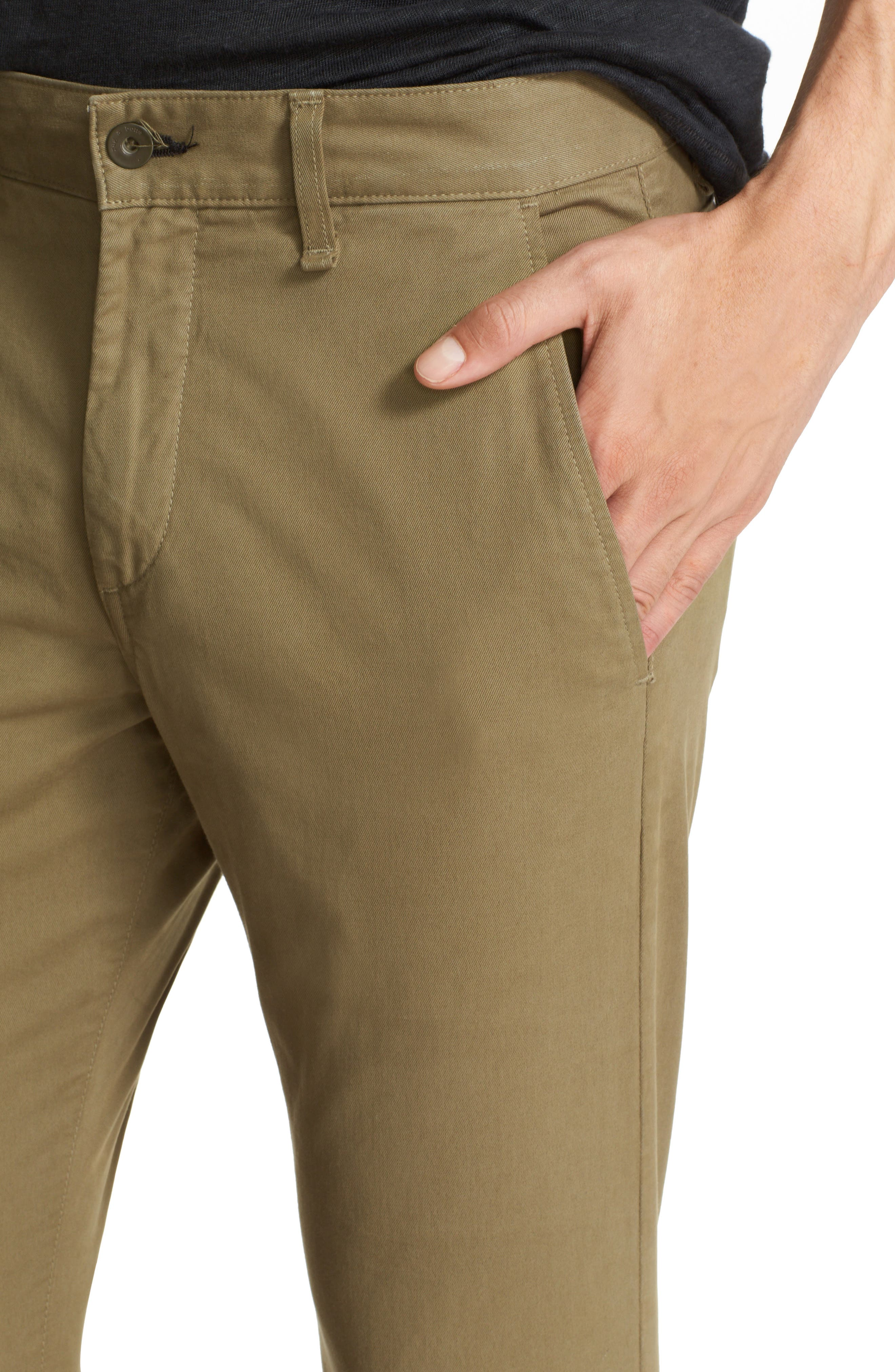Fit 1 Chinos,                             Alternate thumbnail 4, color,                             ARMY GREEN
