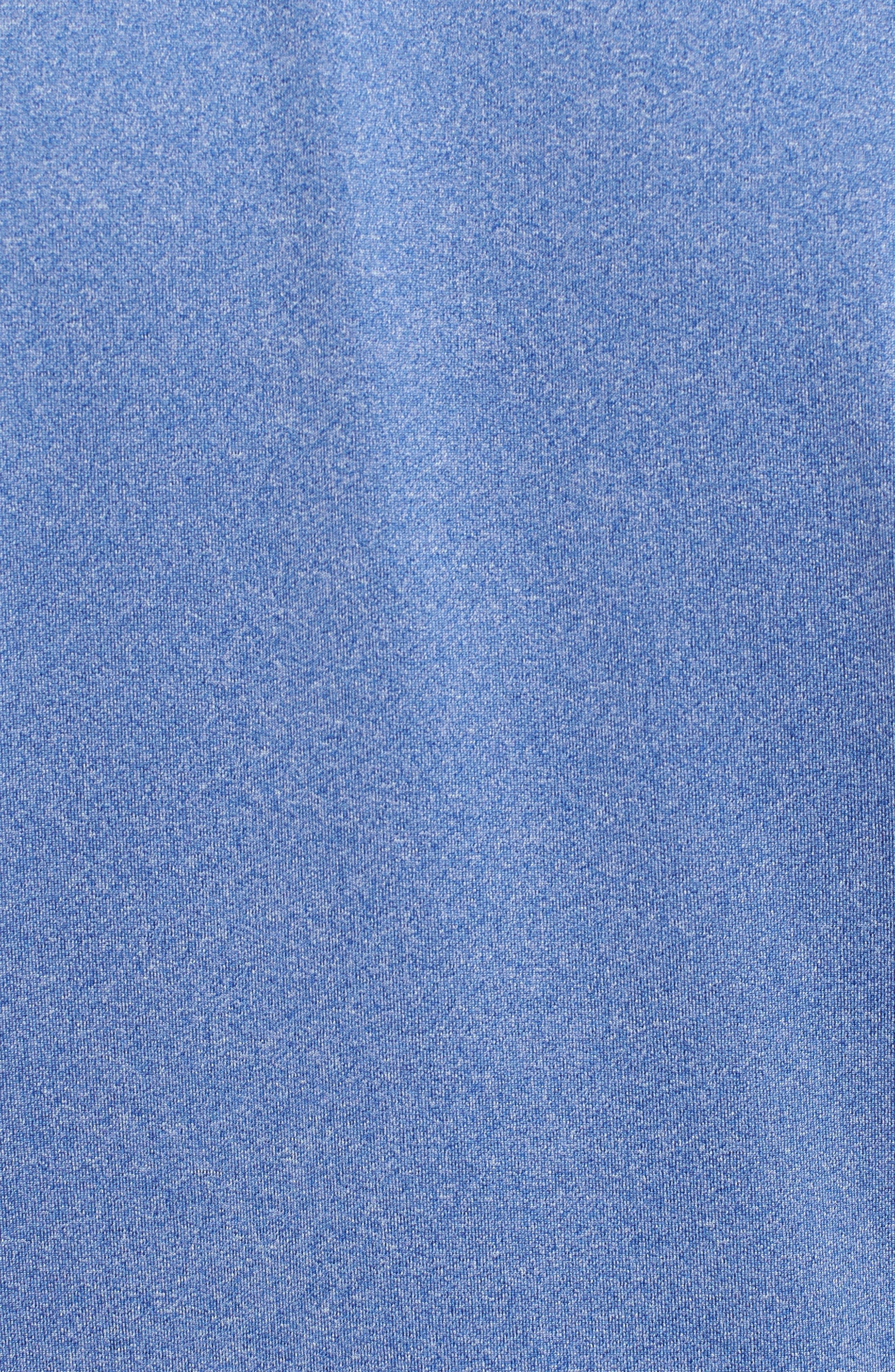 Endurance New York Giants Regular Fit Pullover,                             Alternate thumbnail 5, color,                             TOUR BLUE HEATHER