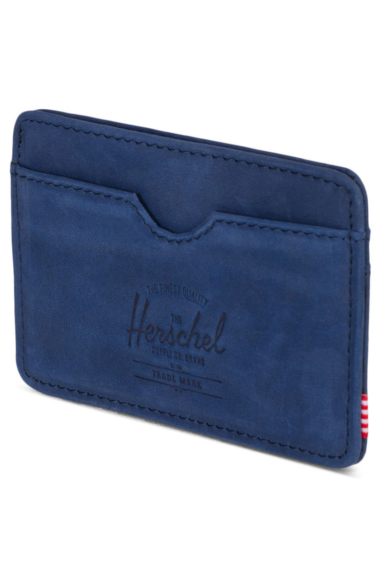 Charlie Leather Card Case,                             Alternate thumbnail 8, color,