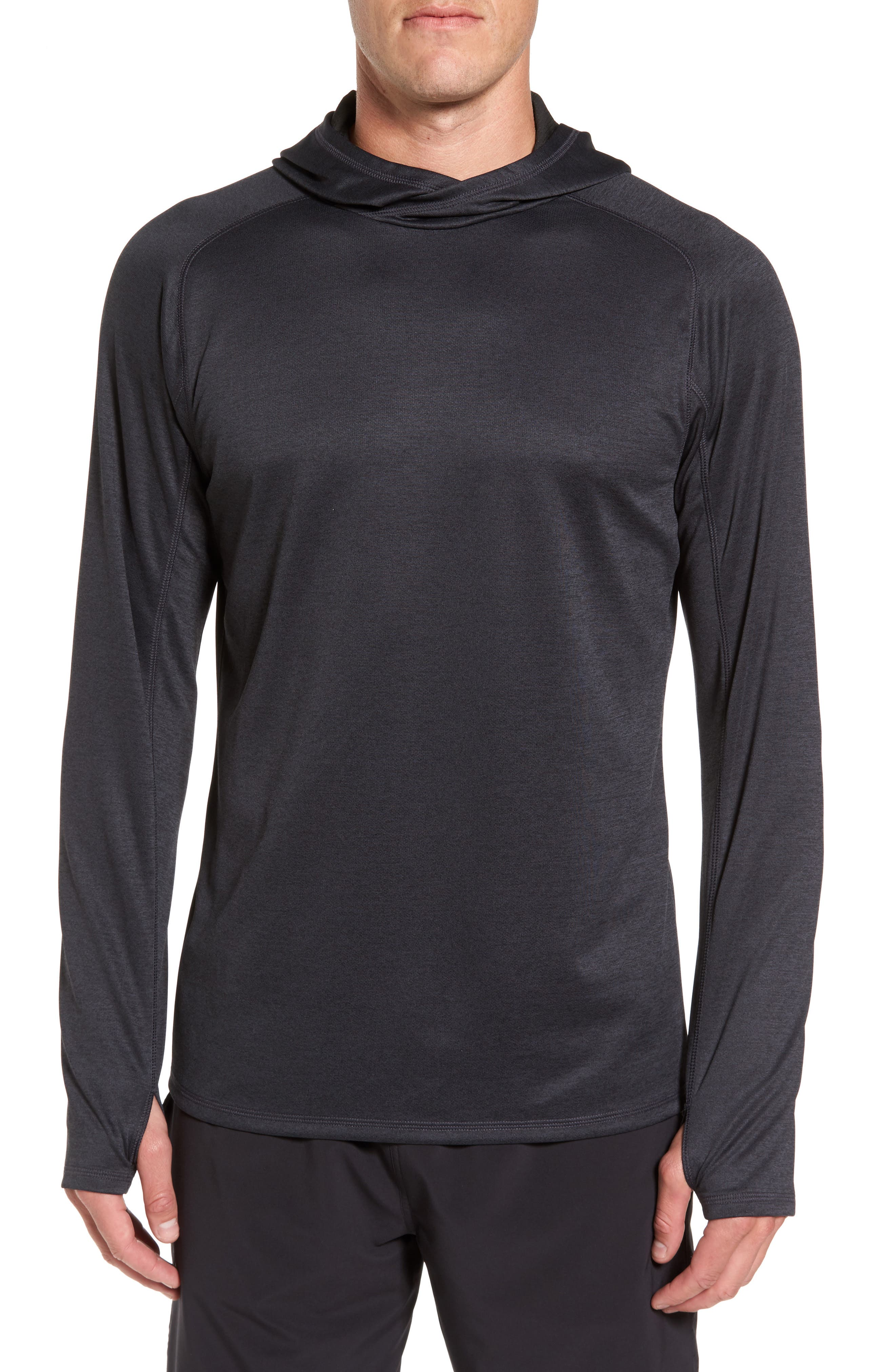 Lightweight Pullover Hoodie,                             Main thumbnail 1, color,                             001