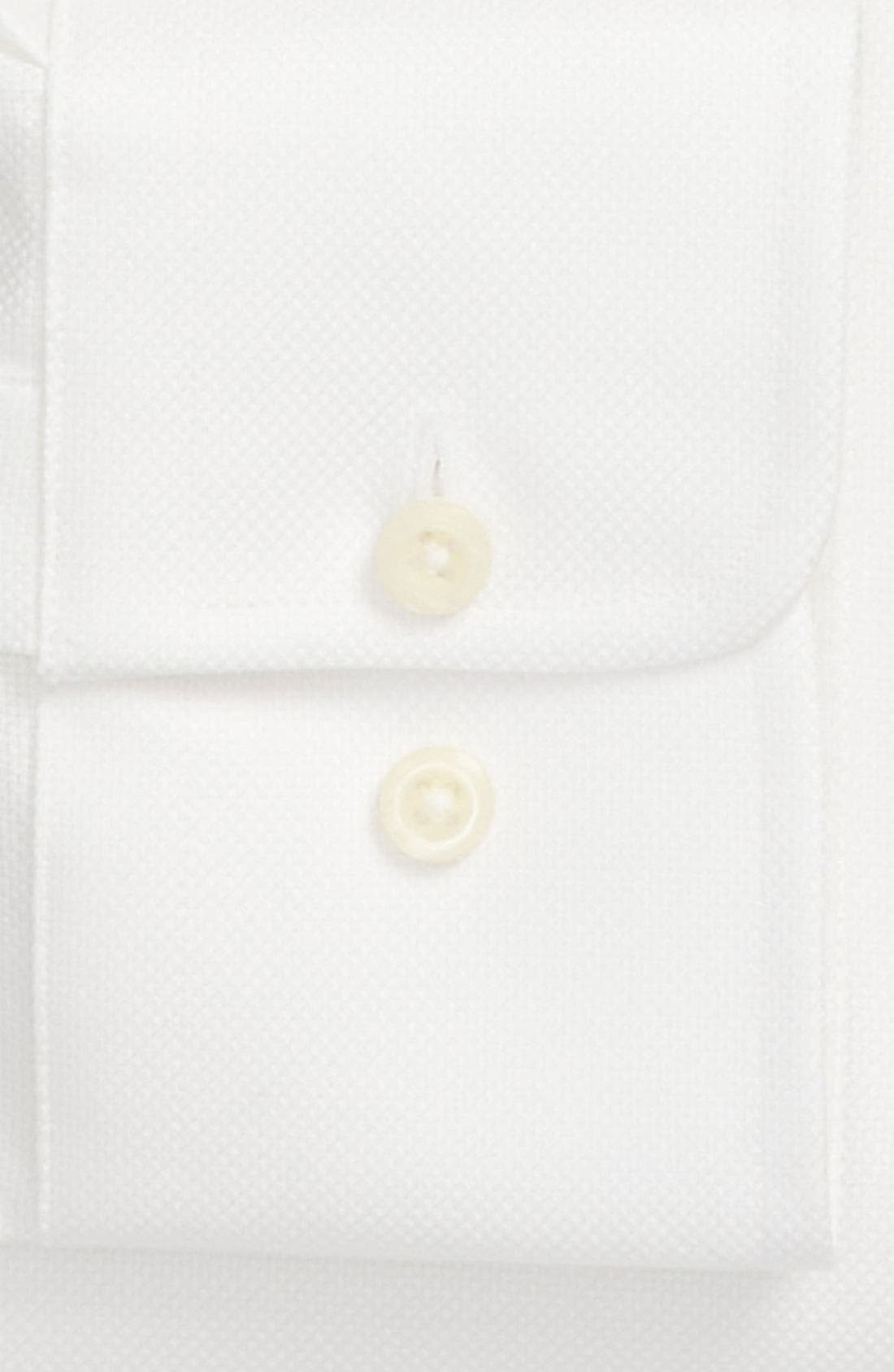 Trim Fit Dress Shirt,                             Alternate thumbnail 7, color,                             WHITE