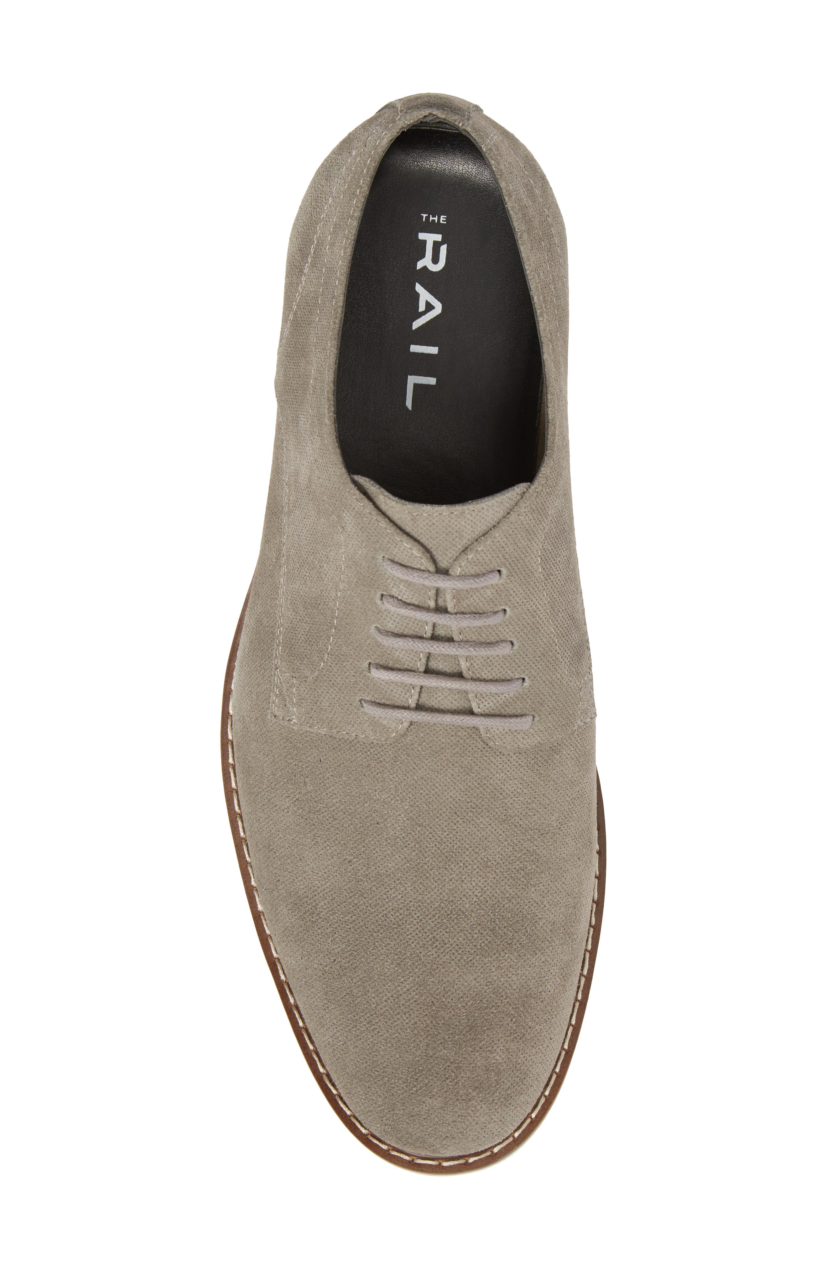 Georgetown Textured Derby,                             Alternate thumbnail 5, color,                             GREY SUEDE