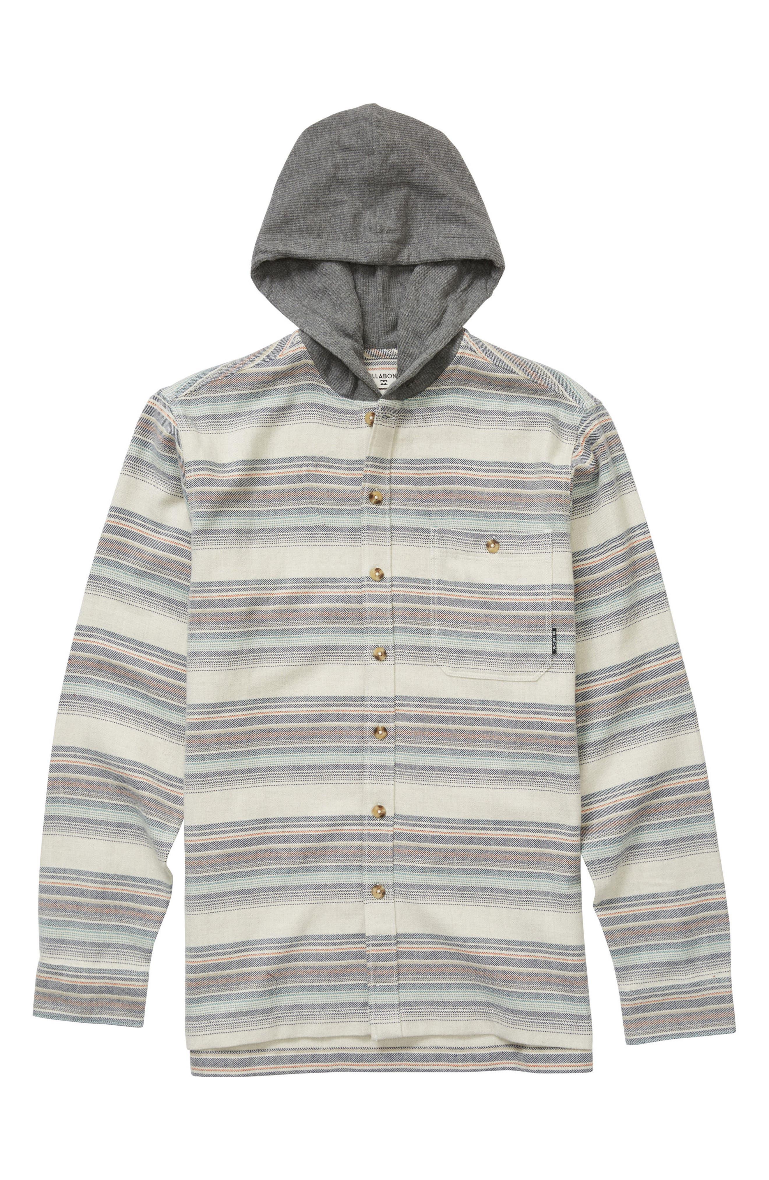 Baja Stripe Flannel Hoodie,                         Main,                         color, 251