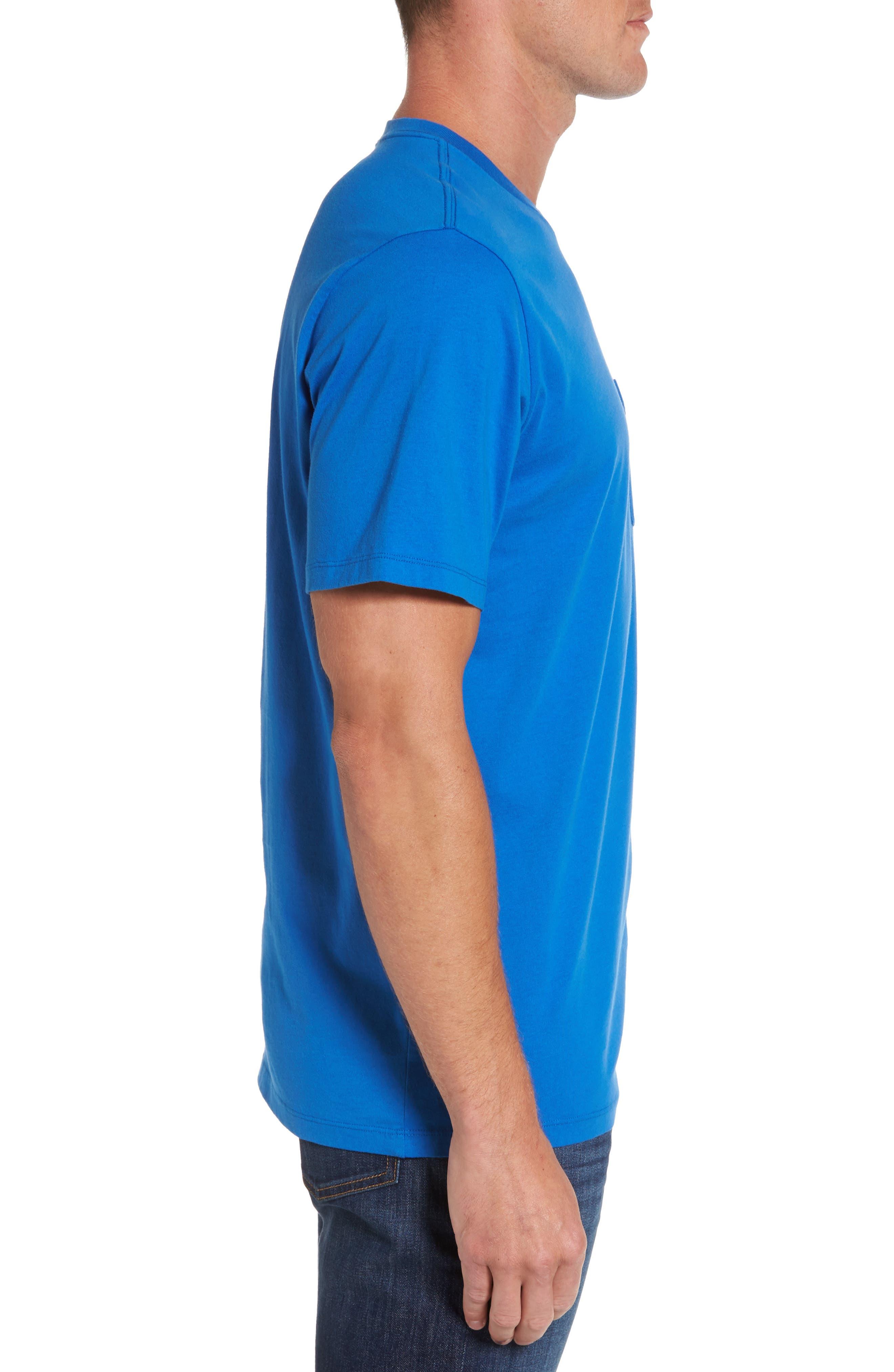 Surf Wave Graphic Pocket T-Shirt,                             Alternate thumbnail 3, color,                             427