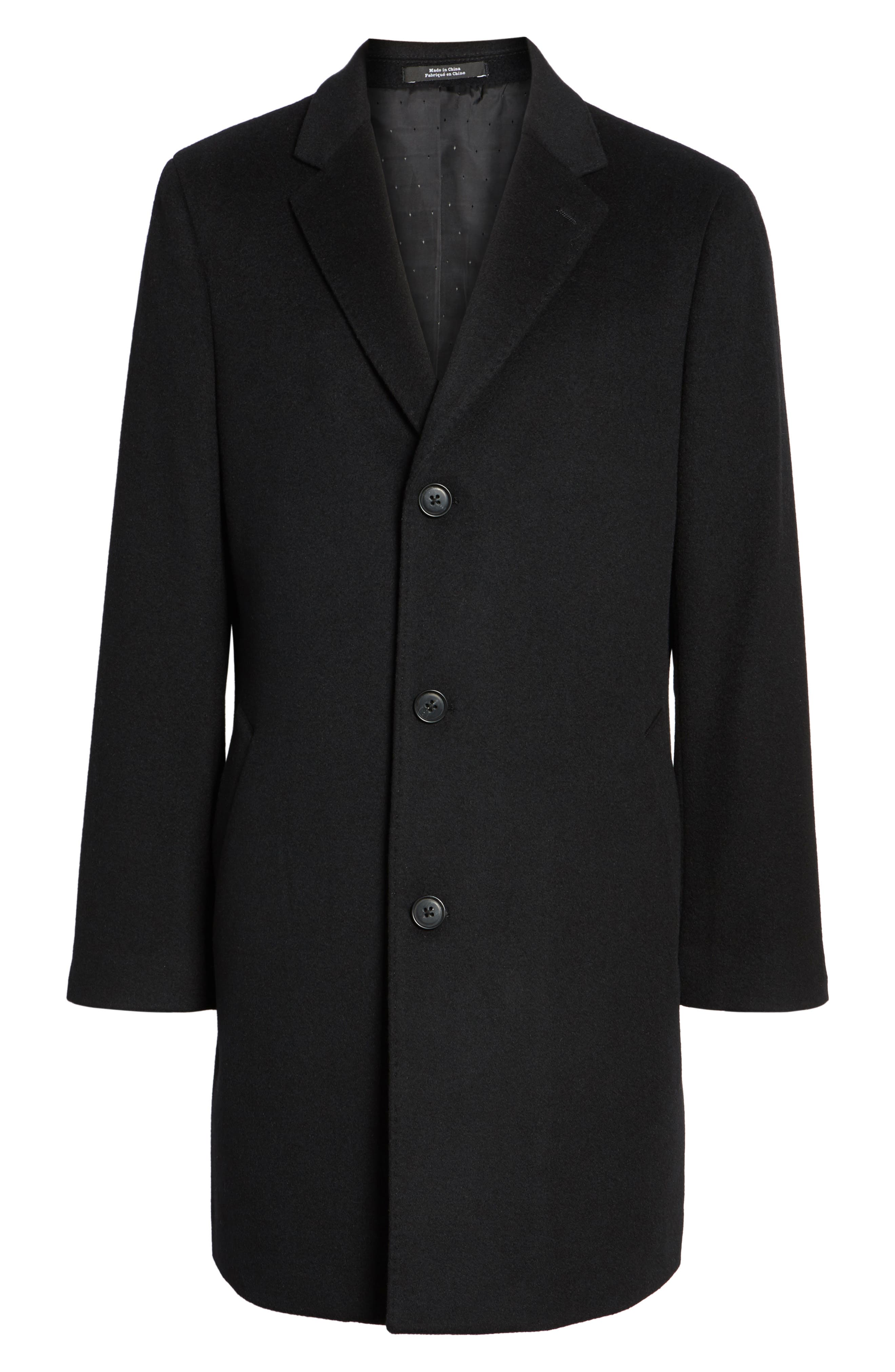 Mason Wool & Cashmere Overcoat,                             Alternate thumbnail 5, color,                             001