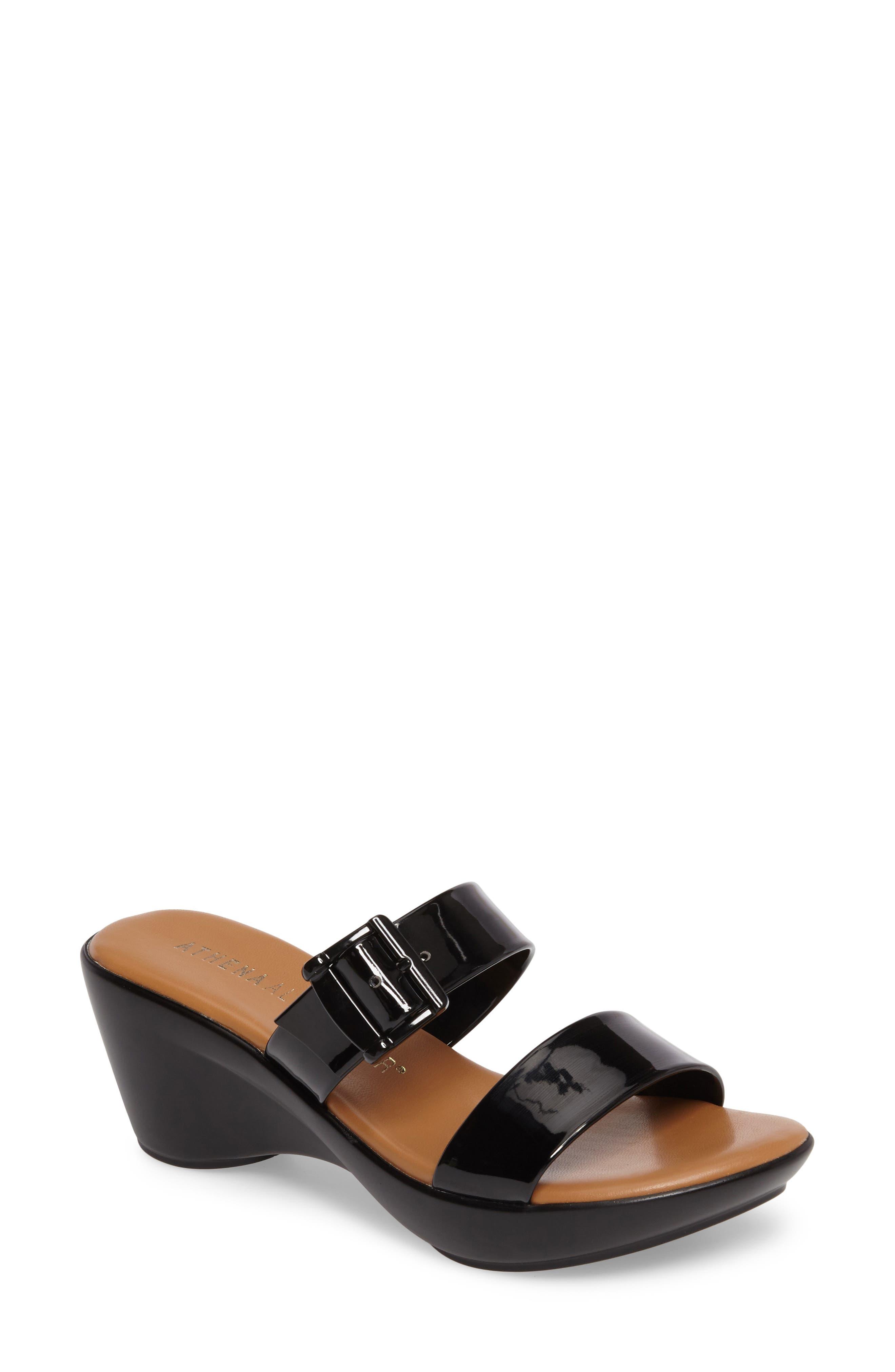Athena Alexander Darlling Wedge Sandal, Black