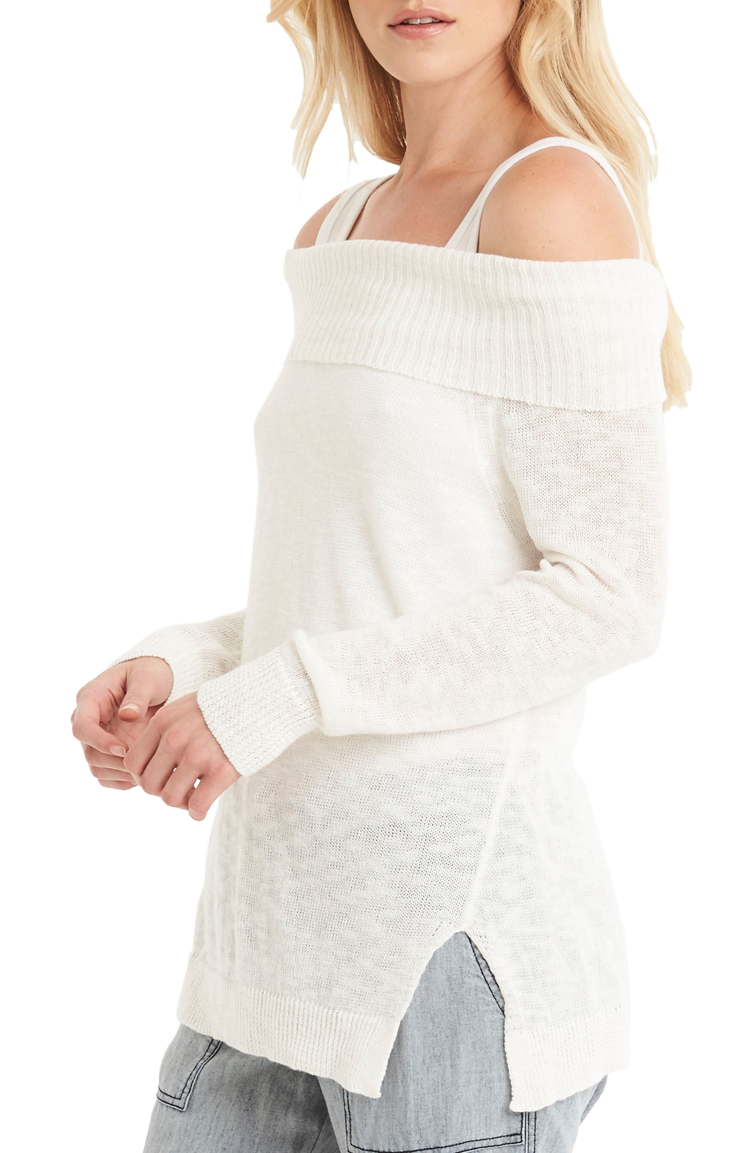 Off the Shoulder Sweater,                             Alternate thumbnail 3, color,                             020