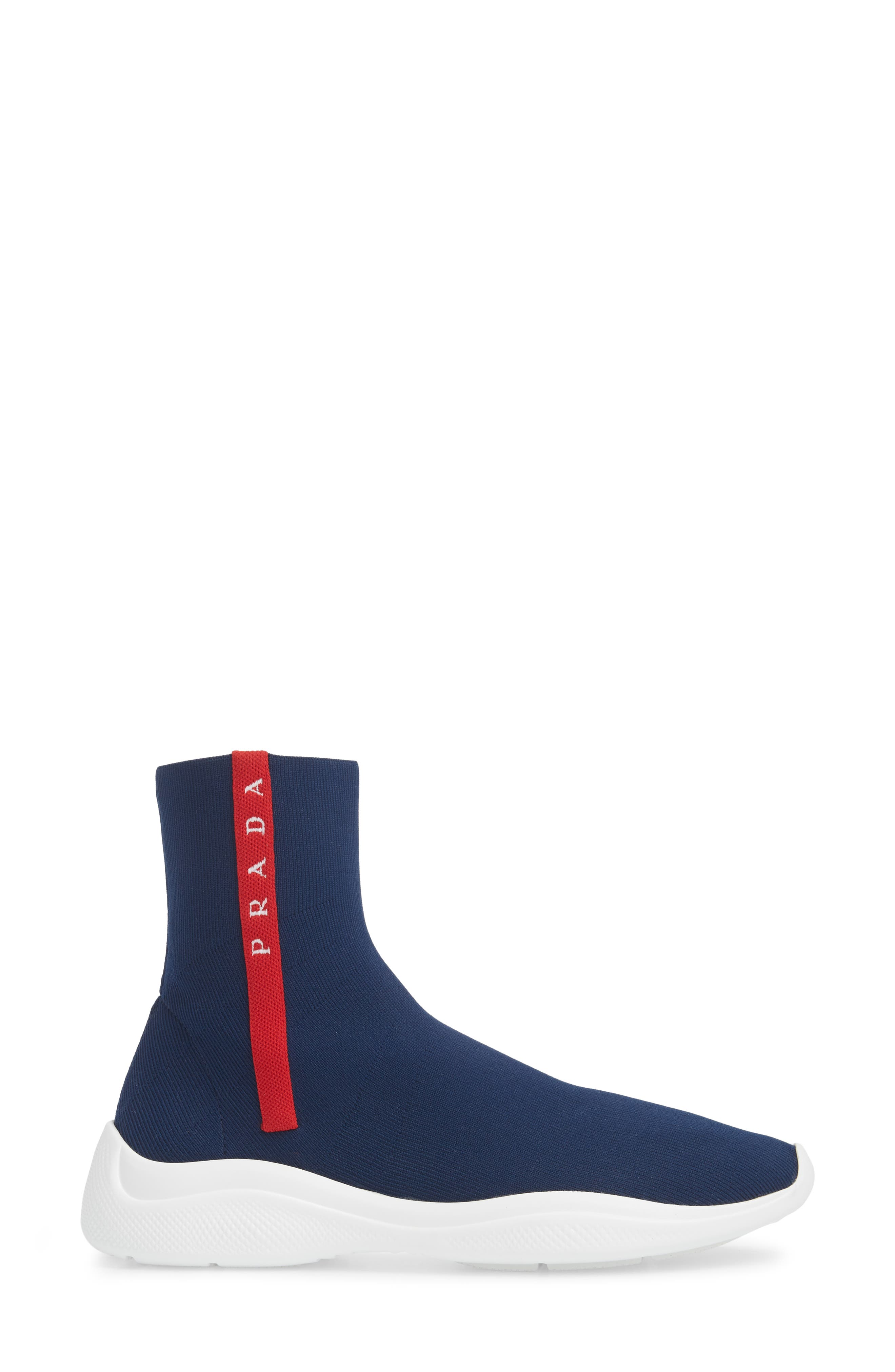 Logo Band Sock Sneaker,                             Alternate thumbnail 3, color,                             ROYAL BLUE