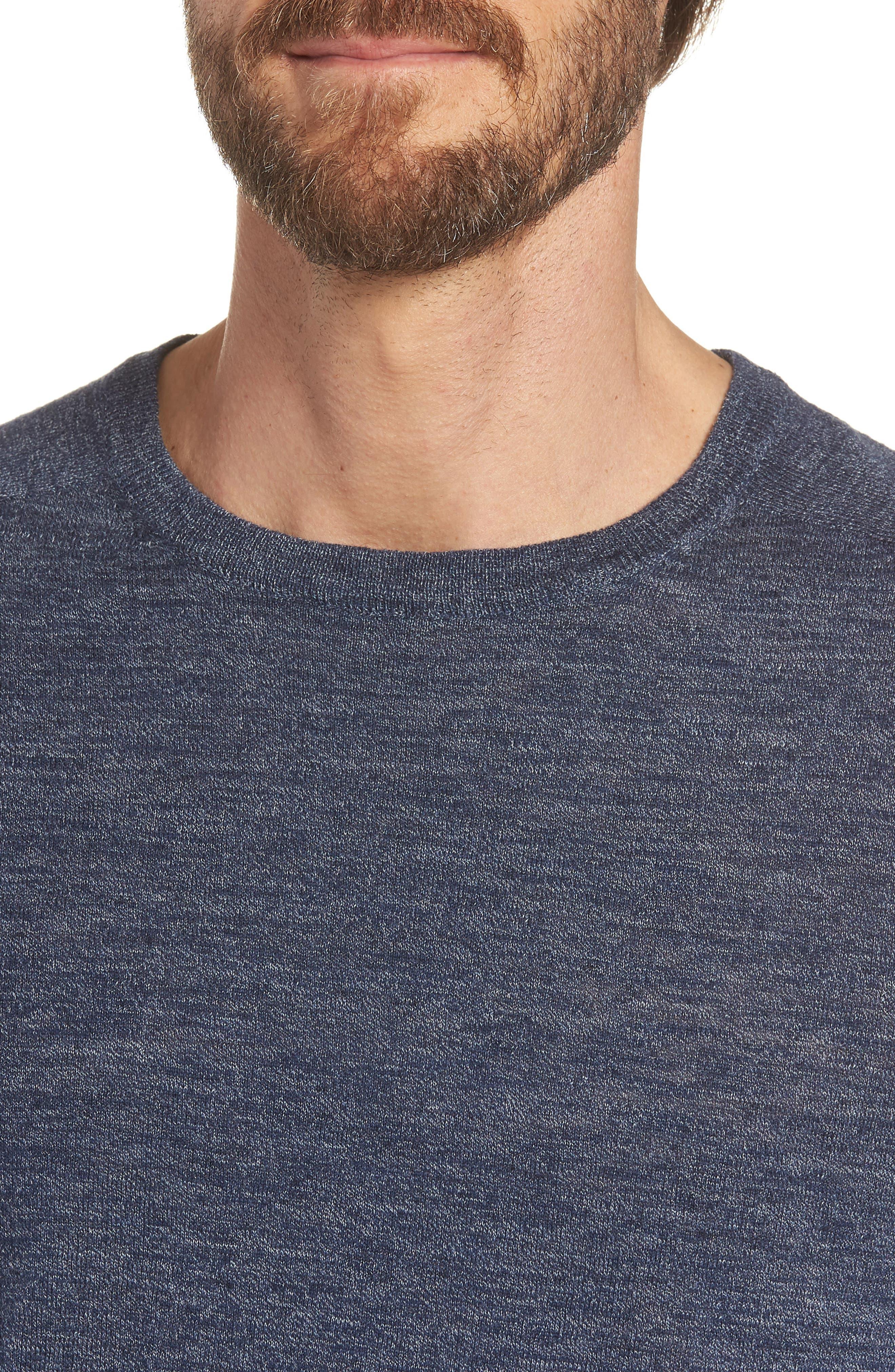 Cotton Blend Crewneck Sweater,                             Alternate thumbnail 15, color,