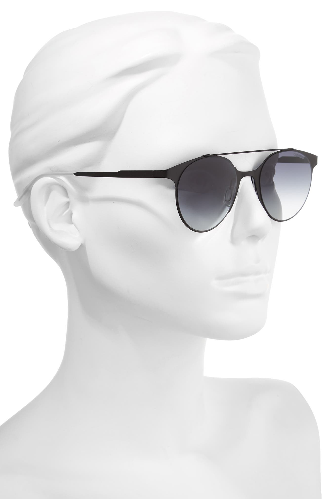 50mm Gradient Round Sunglasses,                             Alternate thumbnail 2, color,                             001