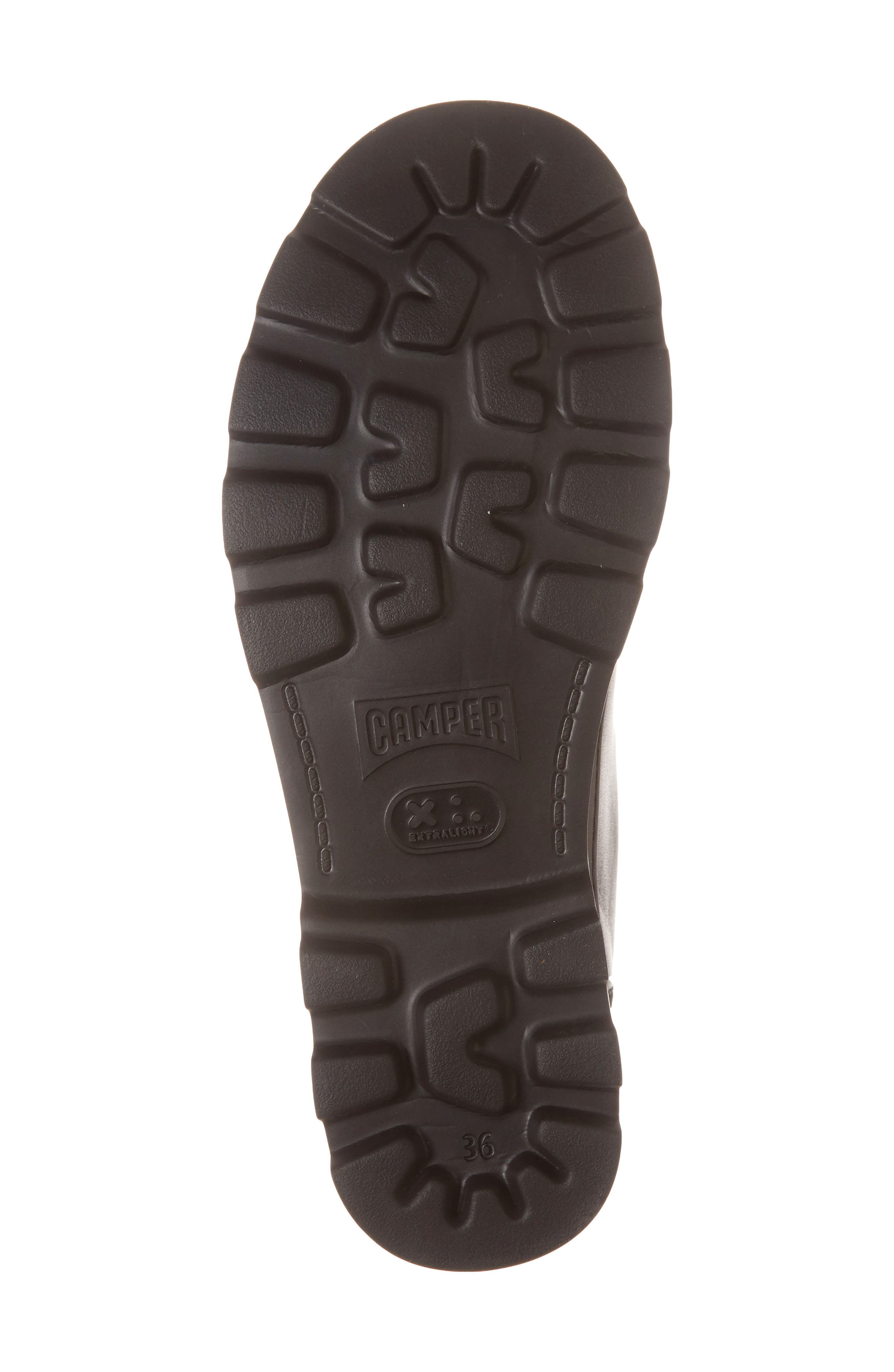 Brutus Sneaker,                             Alternate thumbnail 6, color,                             BLACK LEATHER