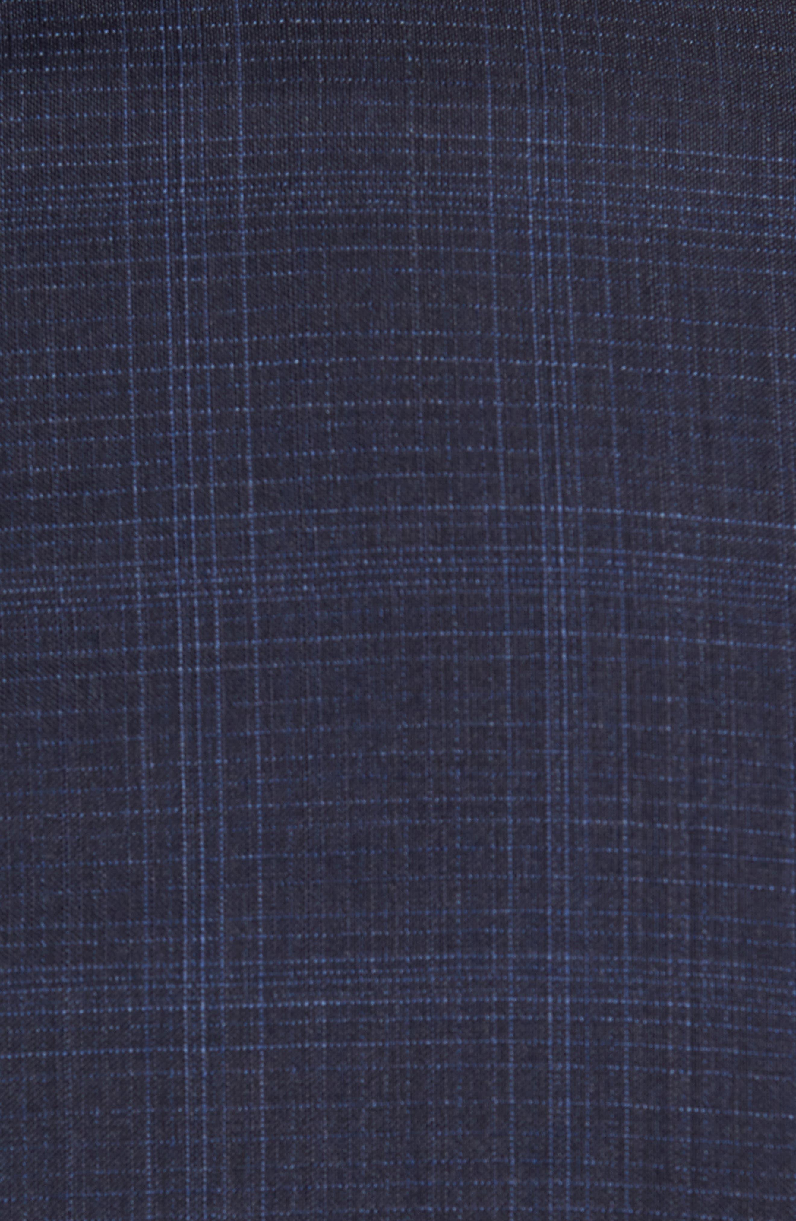 Huge/Genius Trim Fit Plaid Wool Suit,                             Alternate thumbnail 7, color,