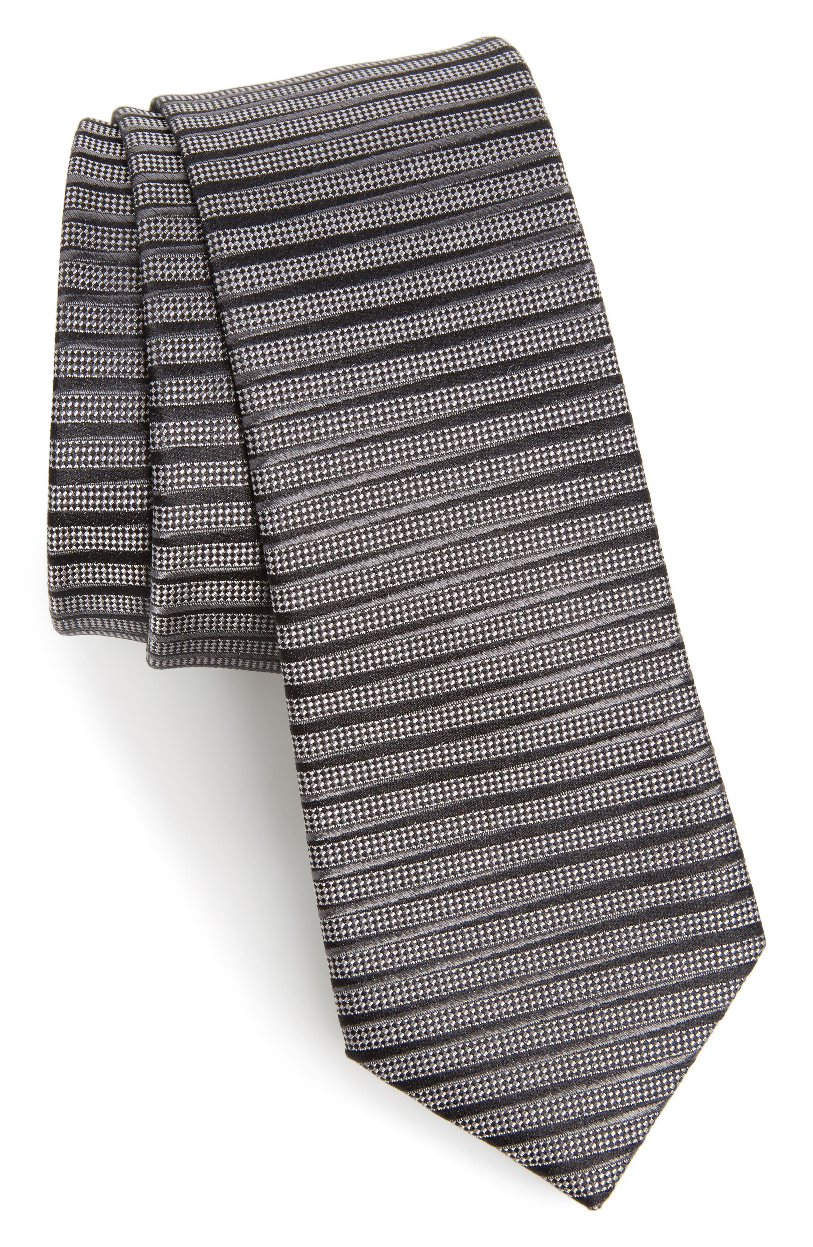 Brewer Stripe Silk Tie,                         Main,                         color, 010