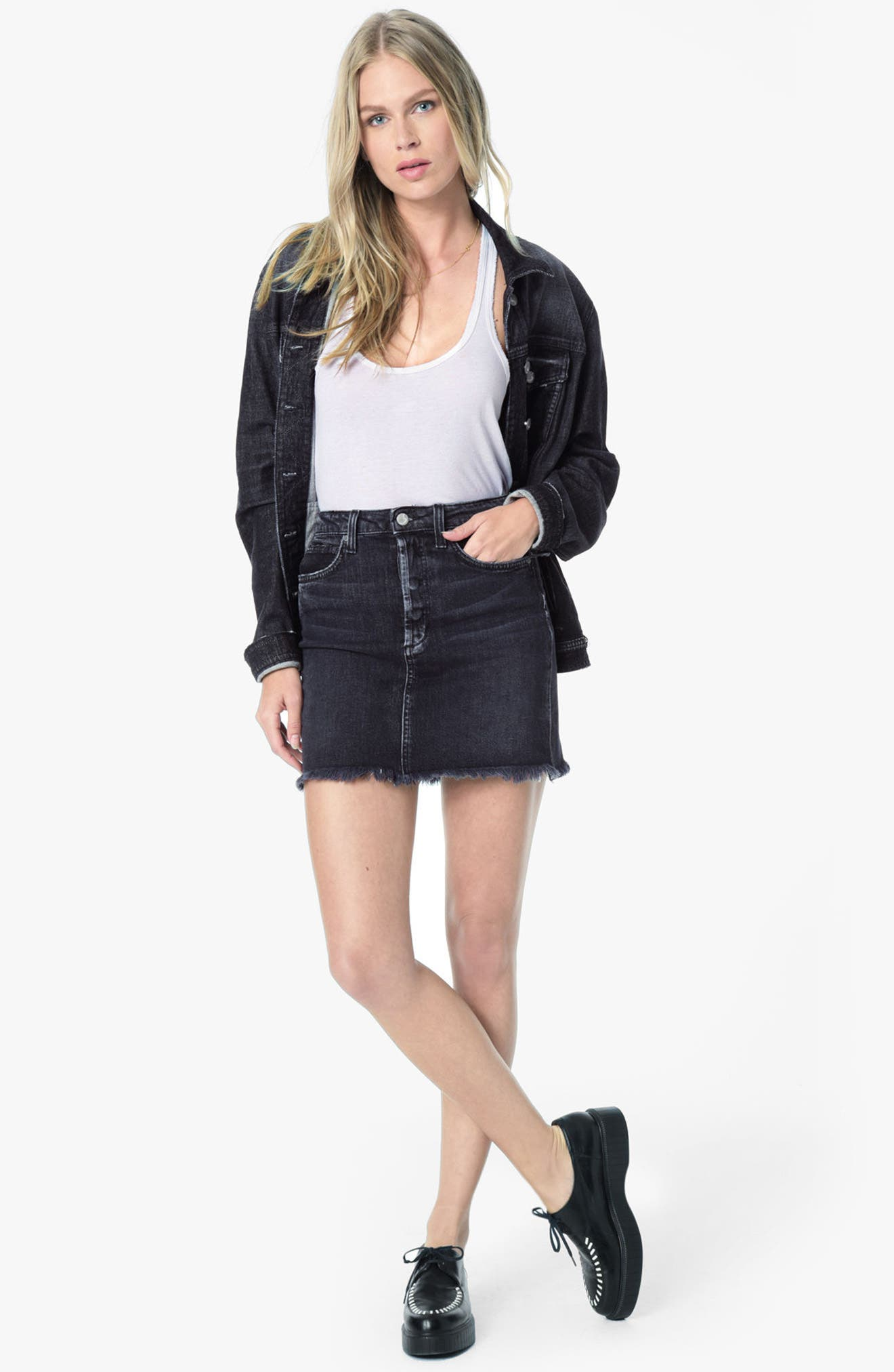 Classics Boyfriend Denim Jacket,                             Alternate thumbnail 4, color,