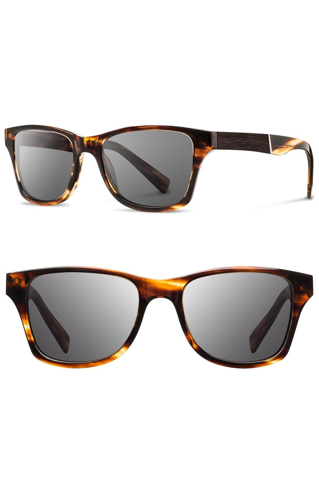 'Canby' 53mm Wood Sunglasses,                             Main thumbnail 3, color,