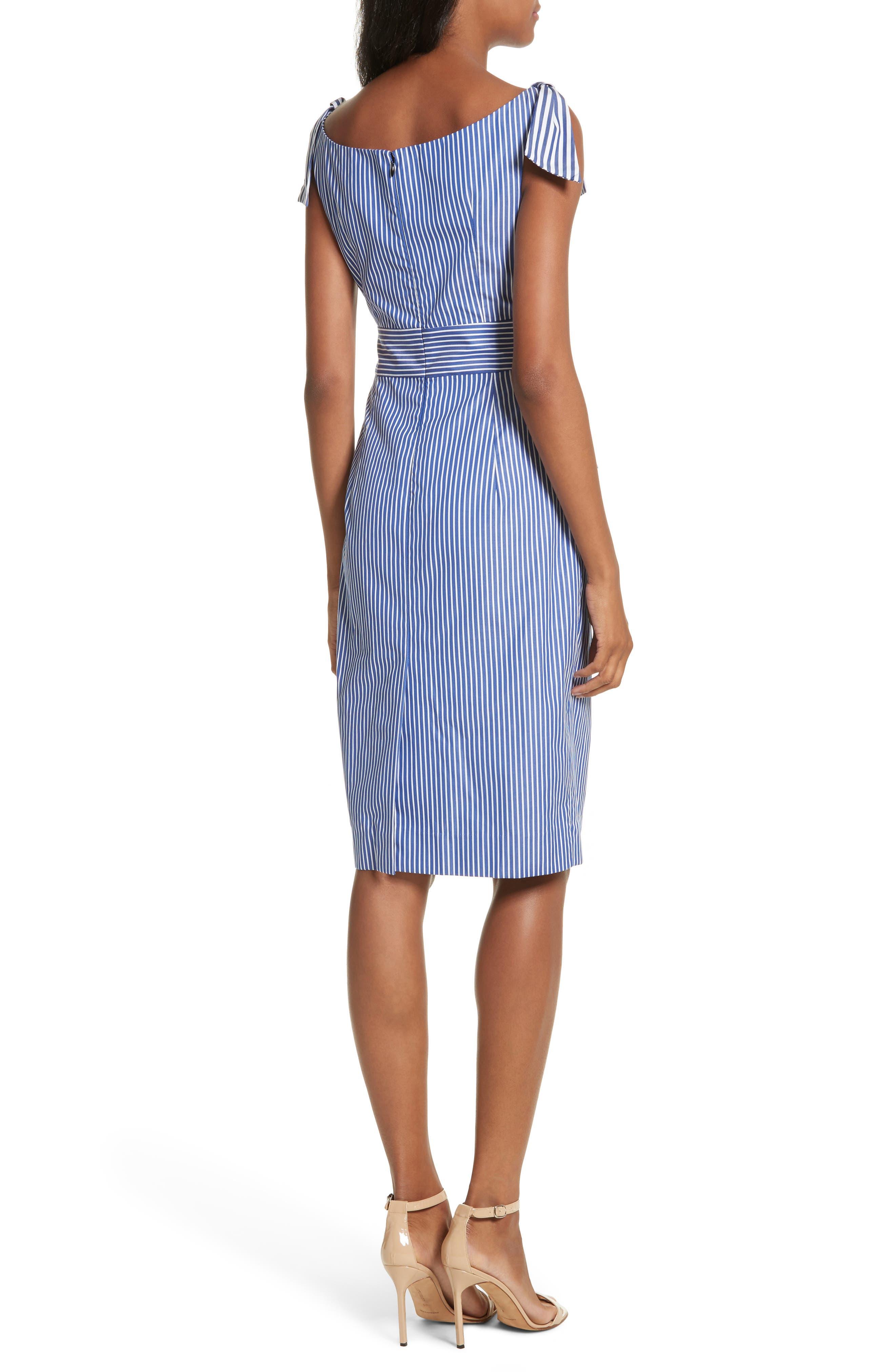Candice Stripe Shirting Tie Dress,                             Alternate thumbnail 2, color,