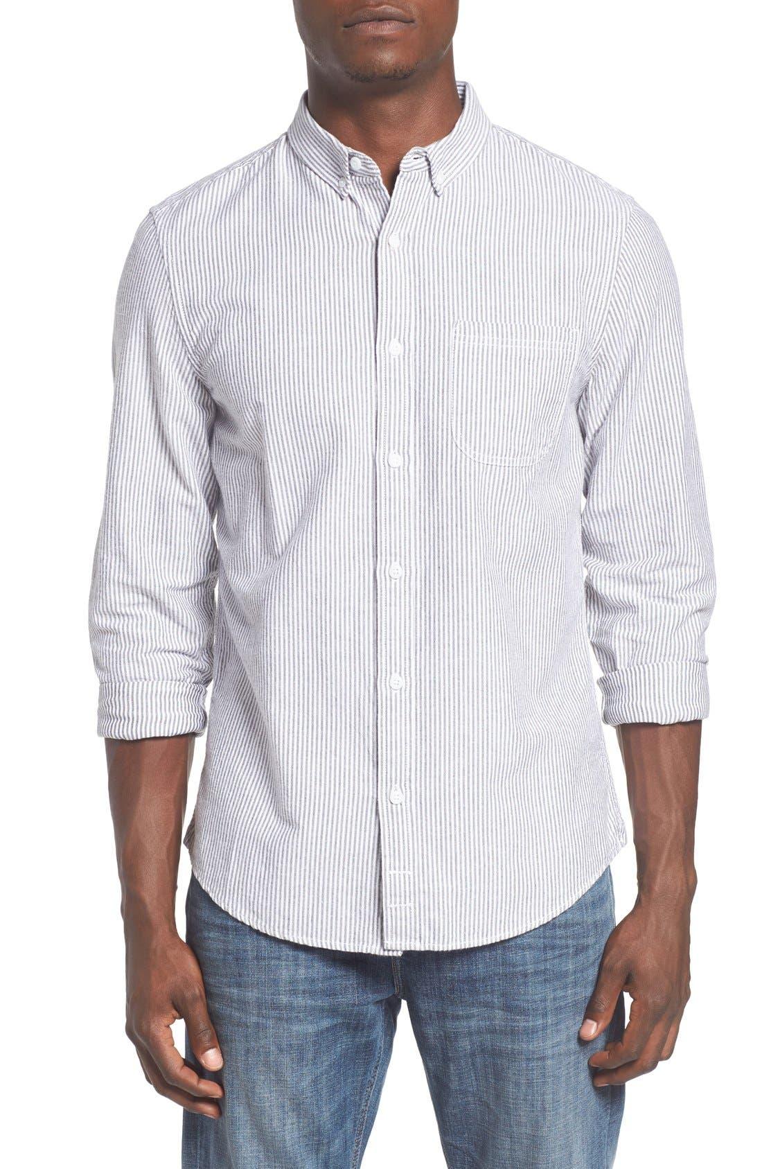 'Baker' Slim Fit Oxford Shirt,                             Main thumbnail 1, color,                             001