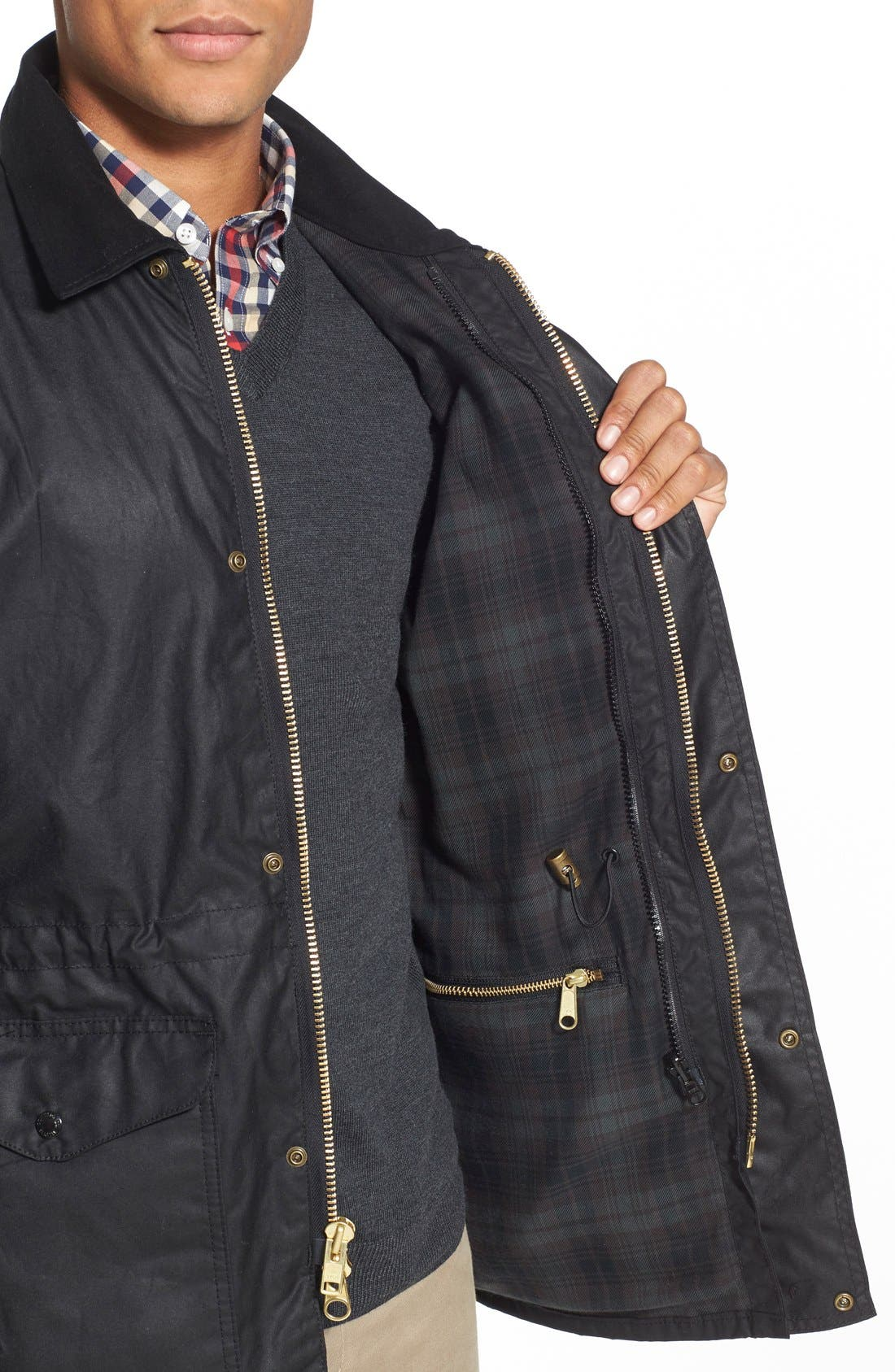 'Cover Cloth Mile Marker' Waxed Cotton Coat,                             Alternate thumbnail 13, color,