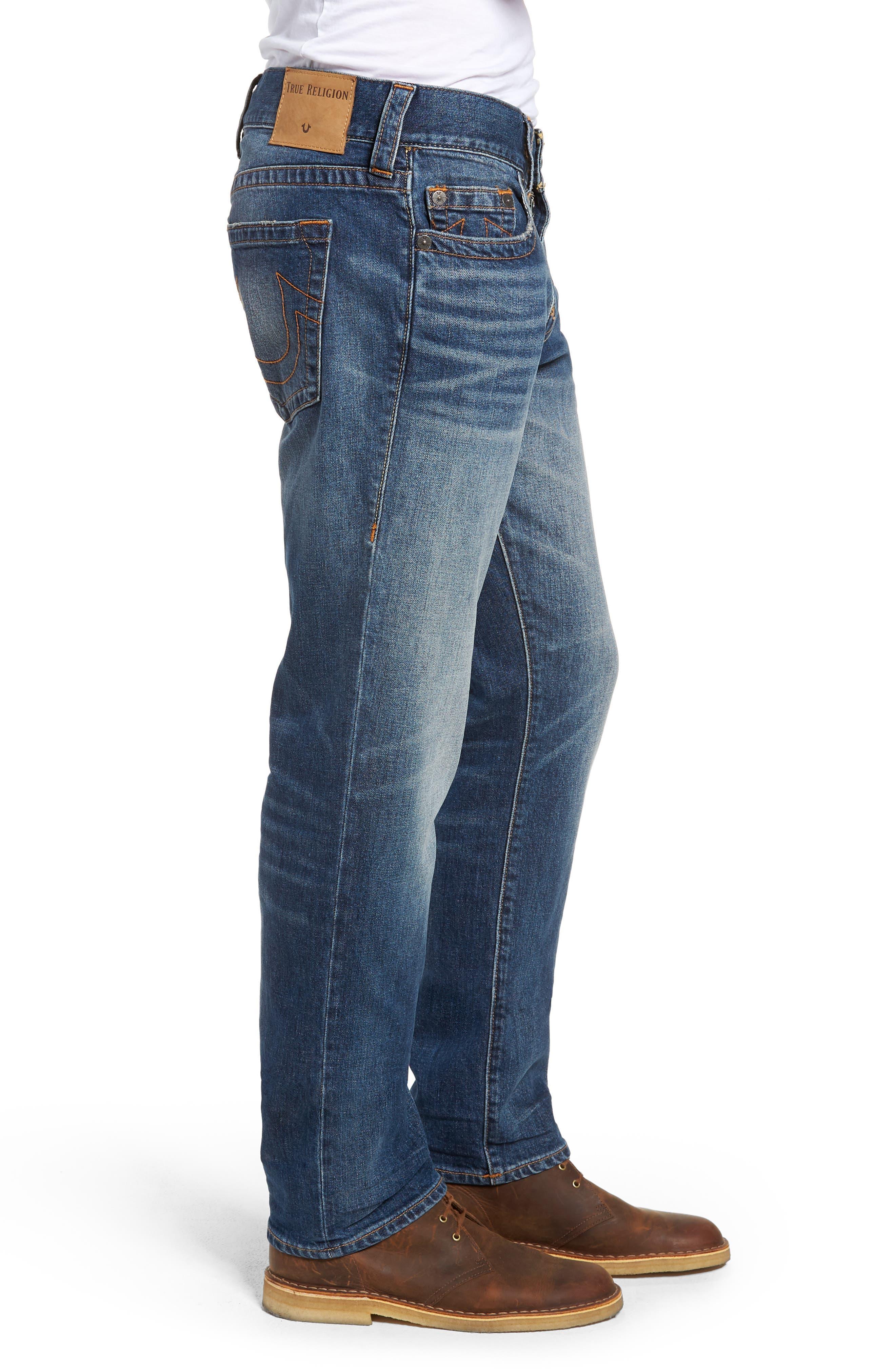 Geno Slim Straight Leg Jeans,                             Alternate thumbnail 3, color,                             JETSET BLUE