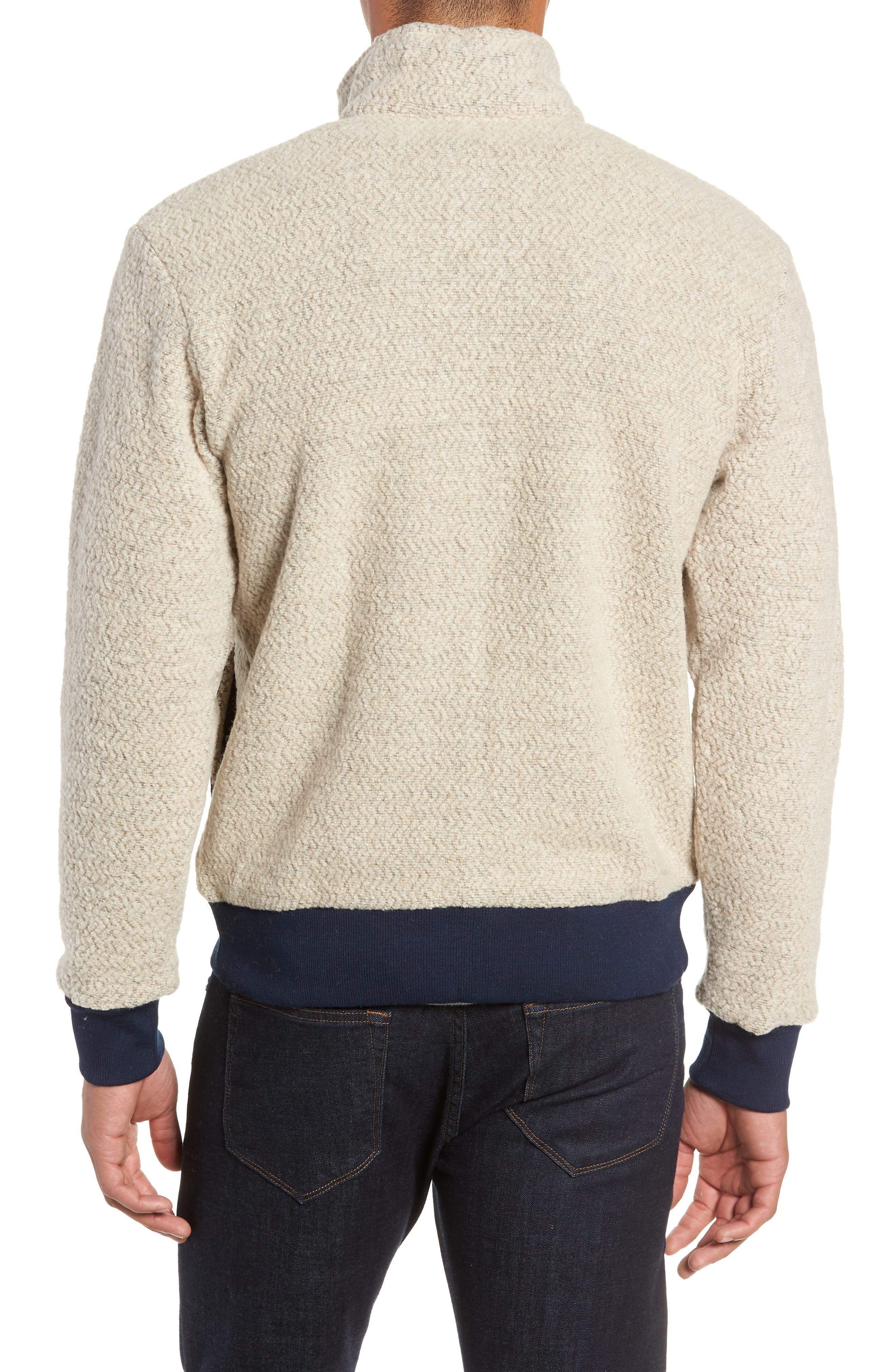 Woolyester Fleece Jacket,                             Alternate thumbnail 2, color,                             OATMEAL HEATHER