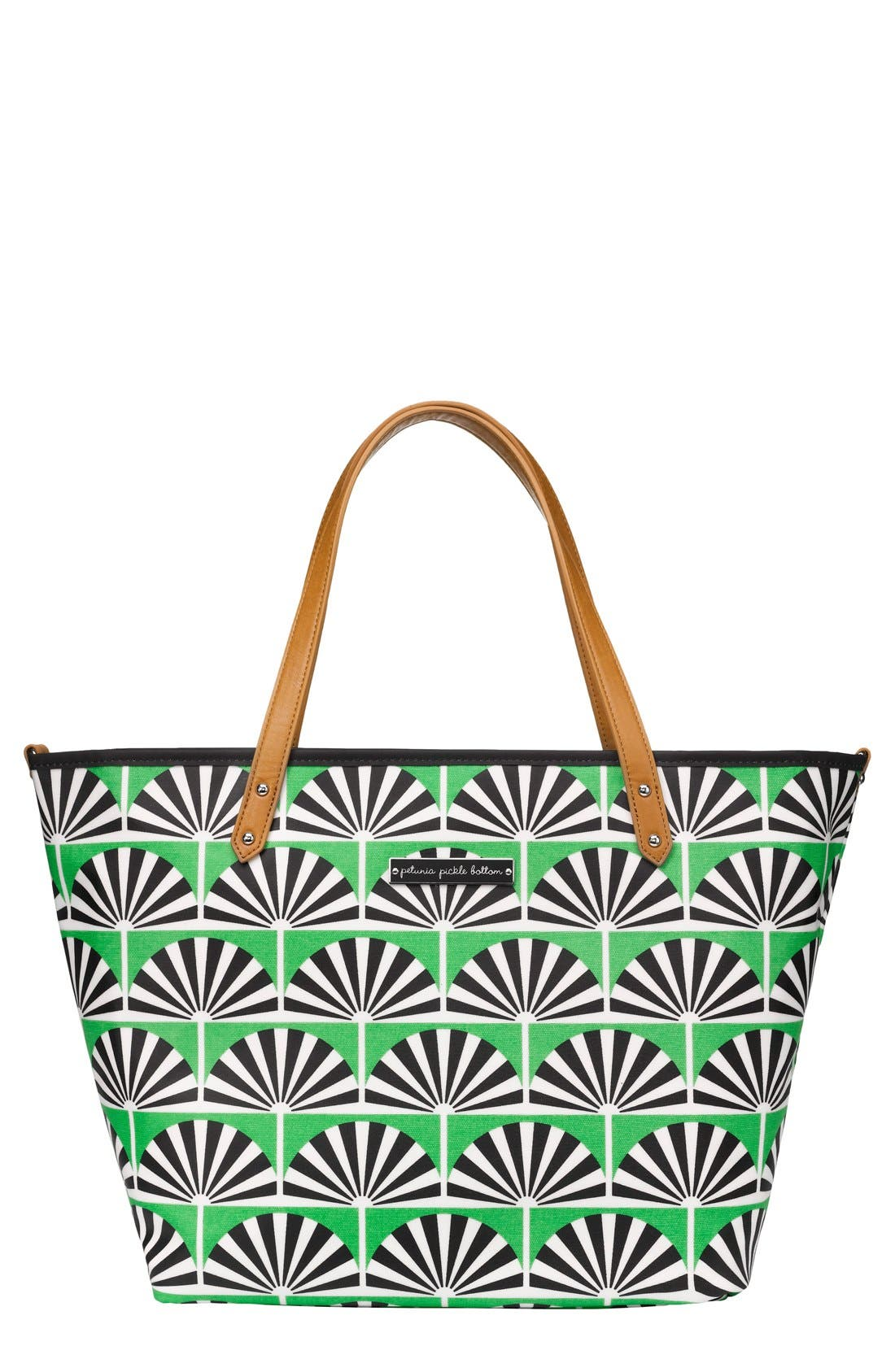 'Downtown' Glazed Canvas Tote,                             Main thumbnail 1, color,                             341