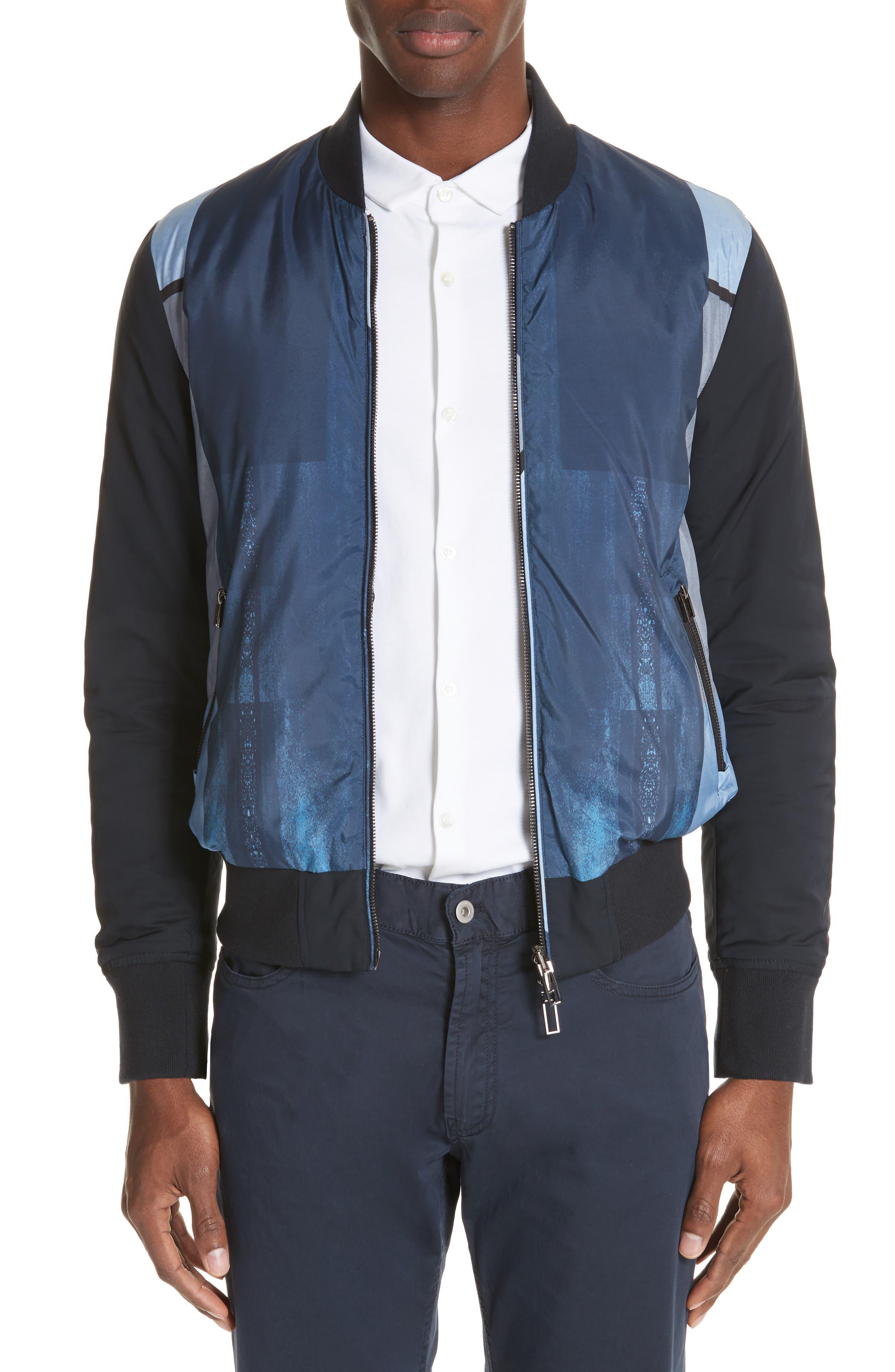 Colorblock Reversible Classic Fit Jacket,                         Main,                         color, 982
