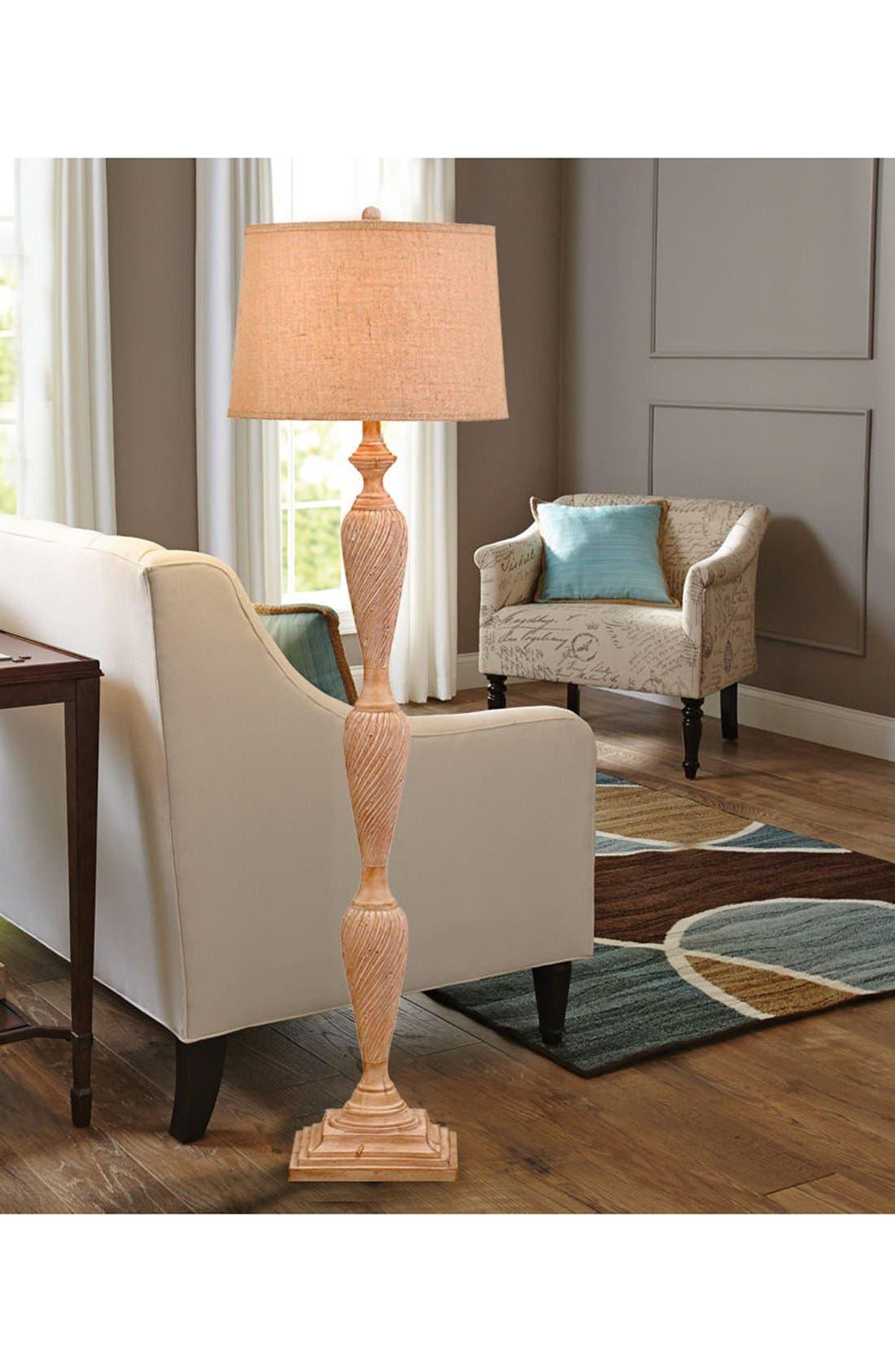 JAlexander Scroll Engraved Floor Lamp,                             Alternate thumbnail 2, color,                             250