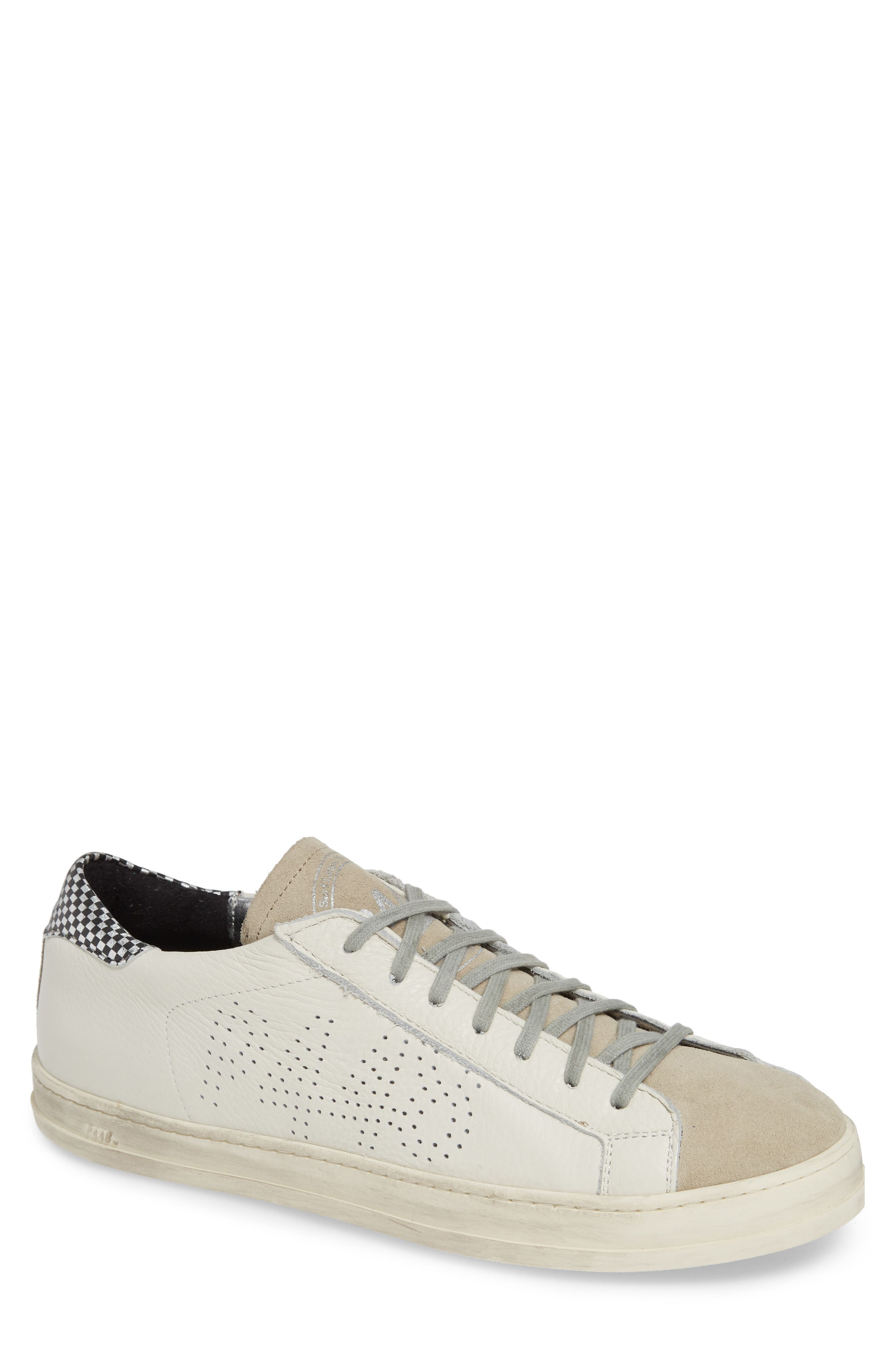 A8John Perforated Sneaker,                             Main thumbnail 1, color,                             WHITE/ WHITE