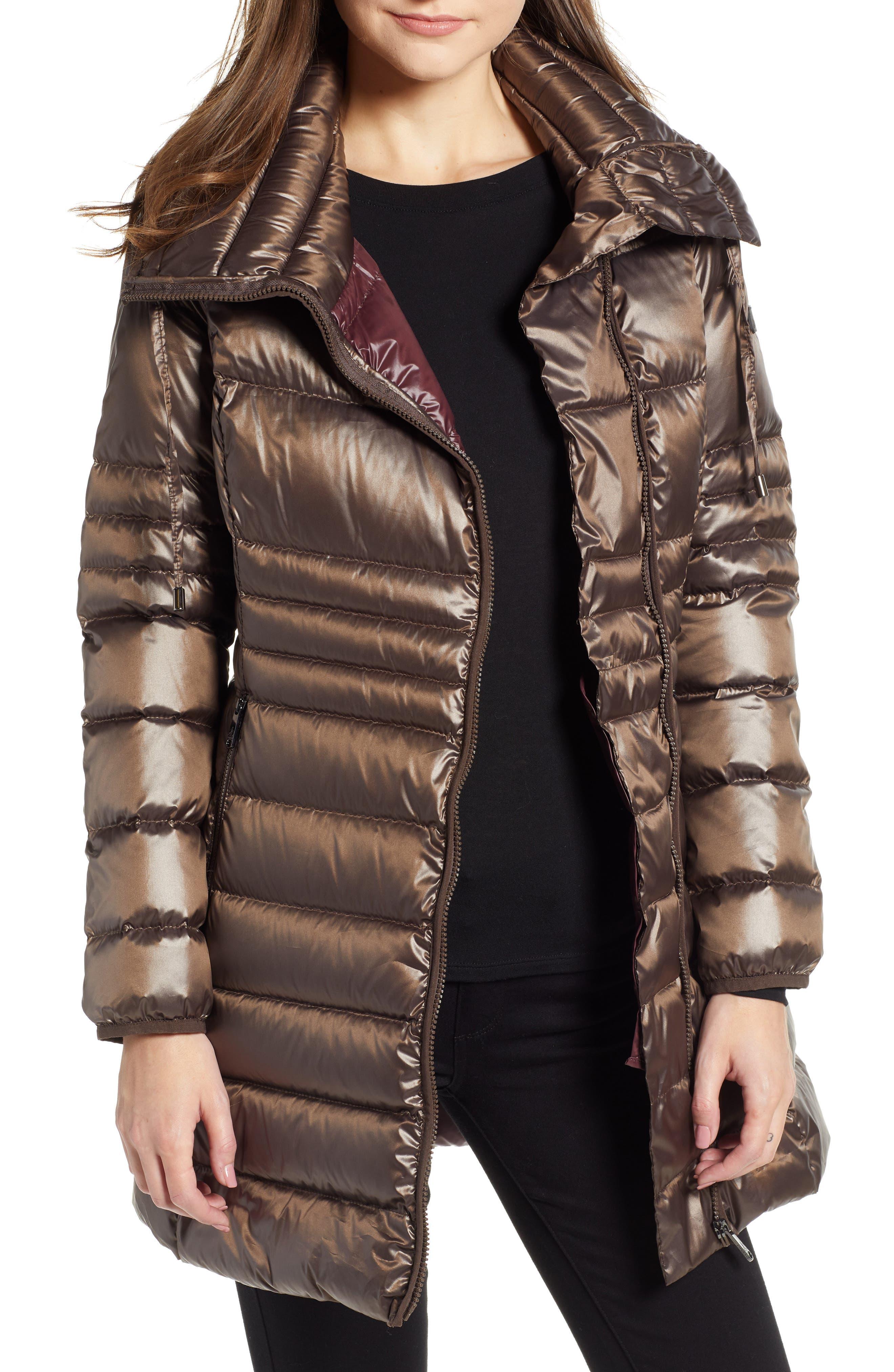 Asymmetrical Puffer Jacket,                             Main thumbnail 1, color,                             MINK