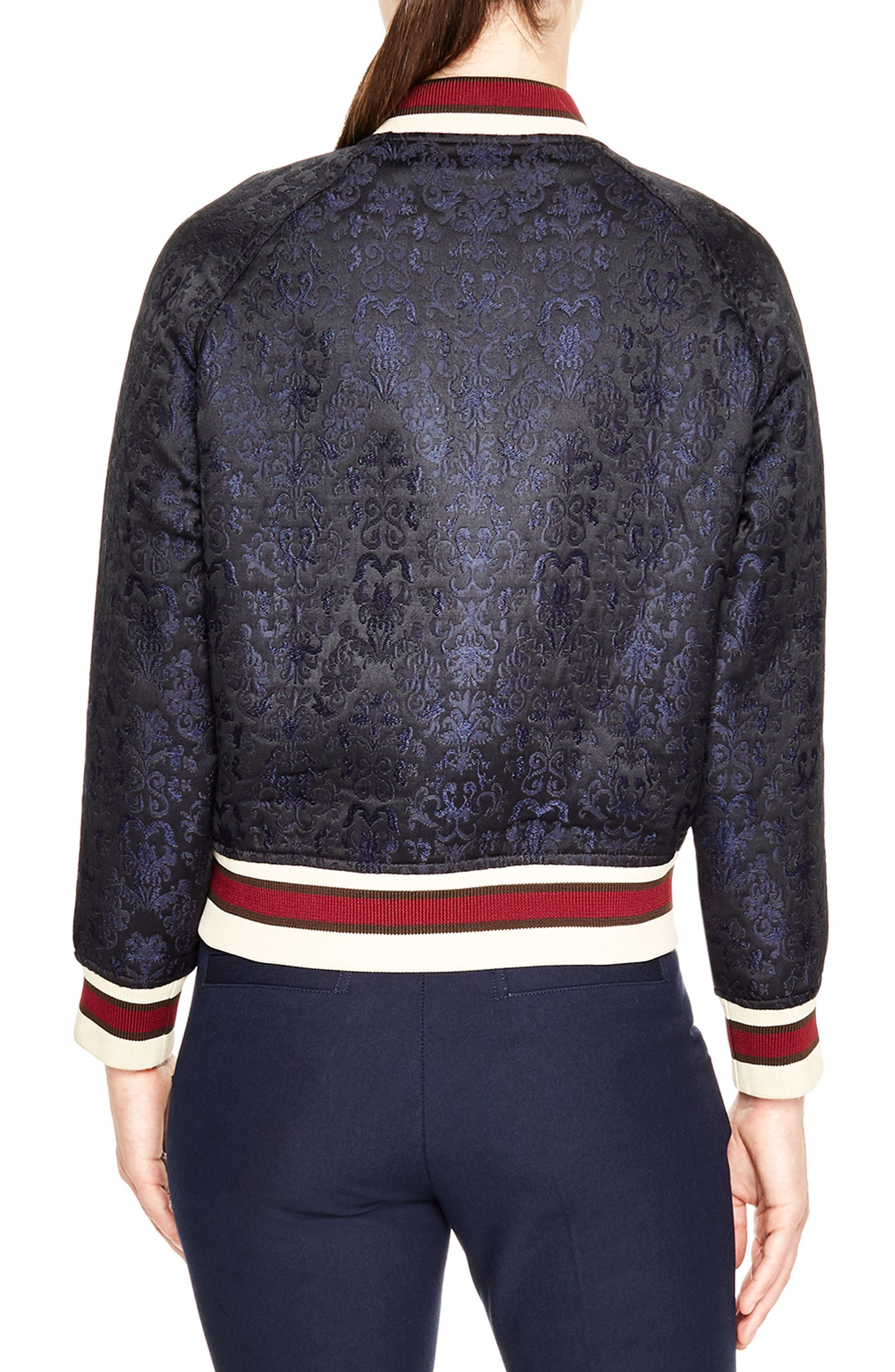 Jacquard Bomber Jacket,                             Alternate thumbnail 2, color,                             001