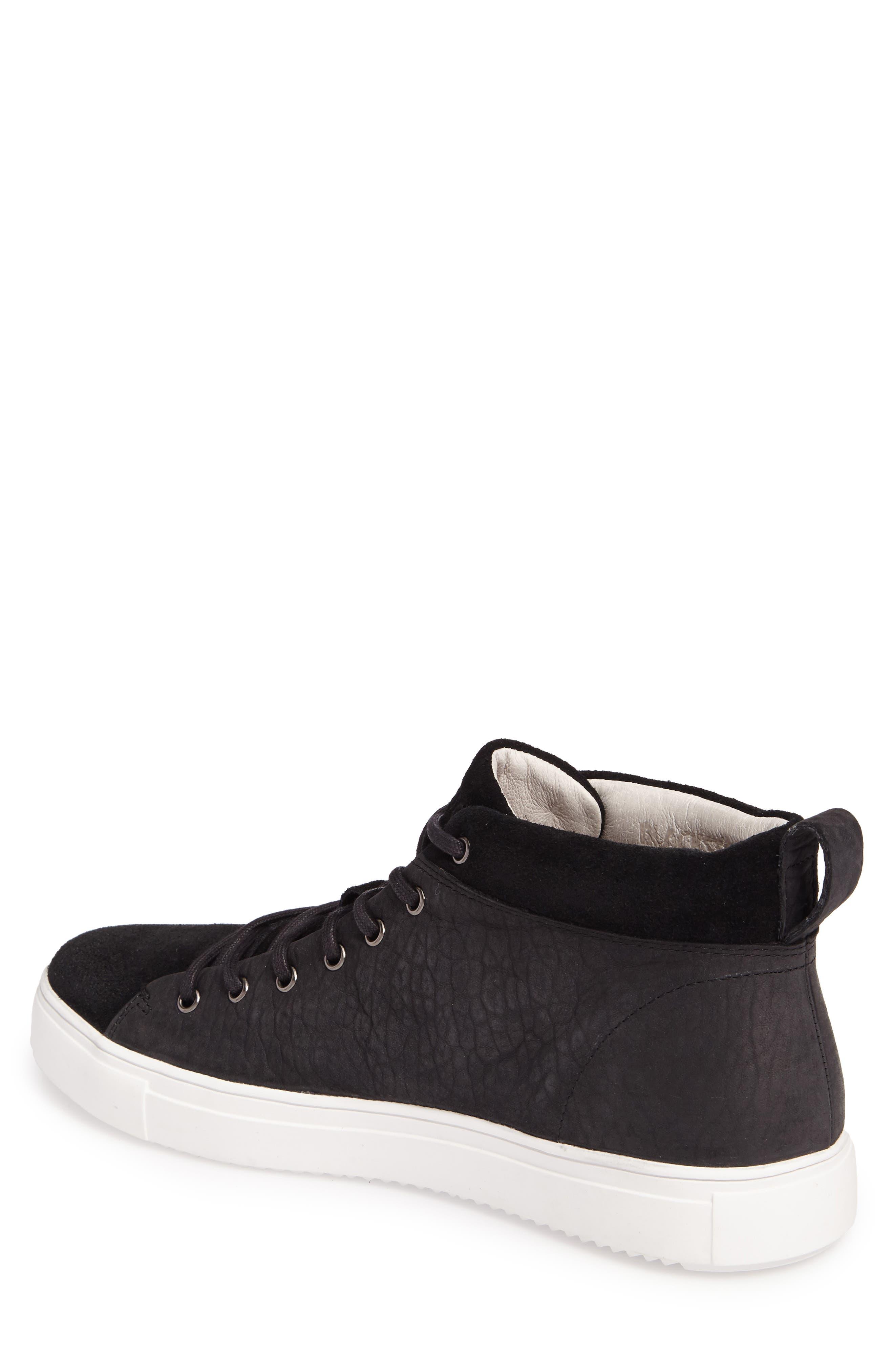 OM 56 Sneaker,                             Alternate thumbnail 2, color,                             BLACK LEATHER