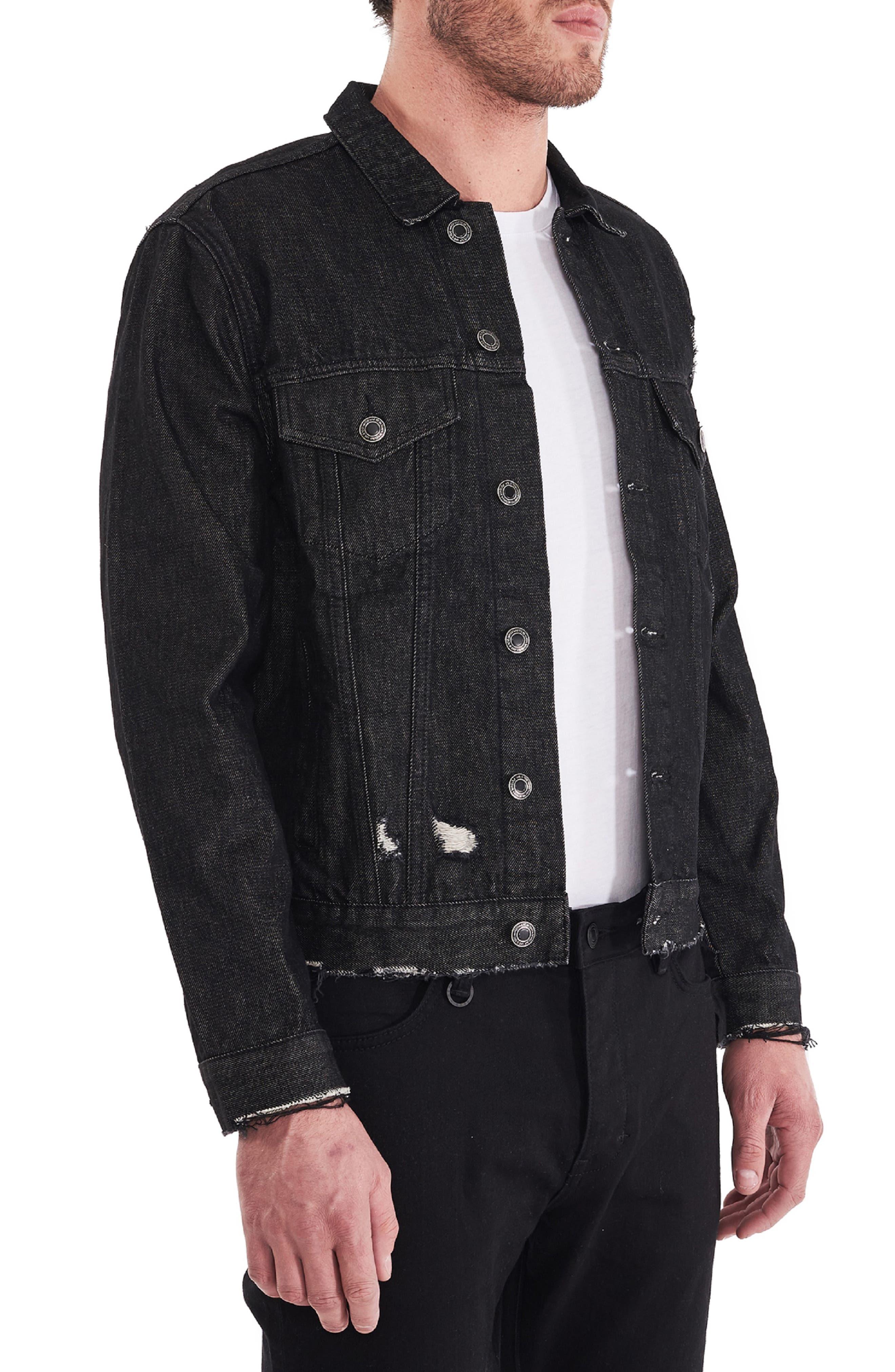 Type One Black Label Denim Jacket,                             Alternate thumbnail 3, color,                             BLACK LABEL