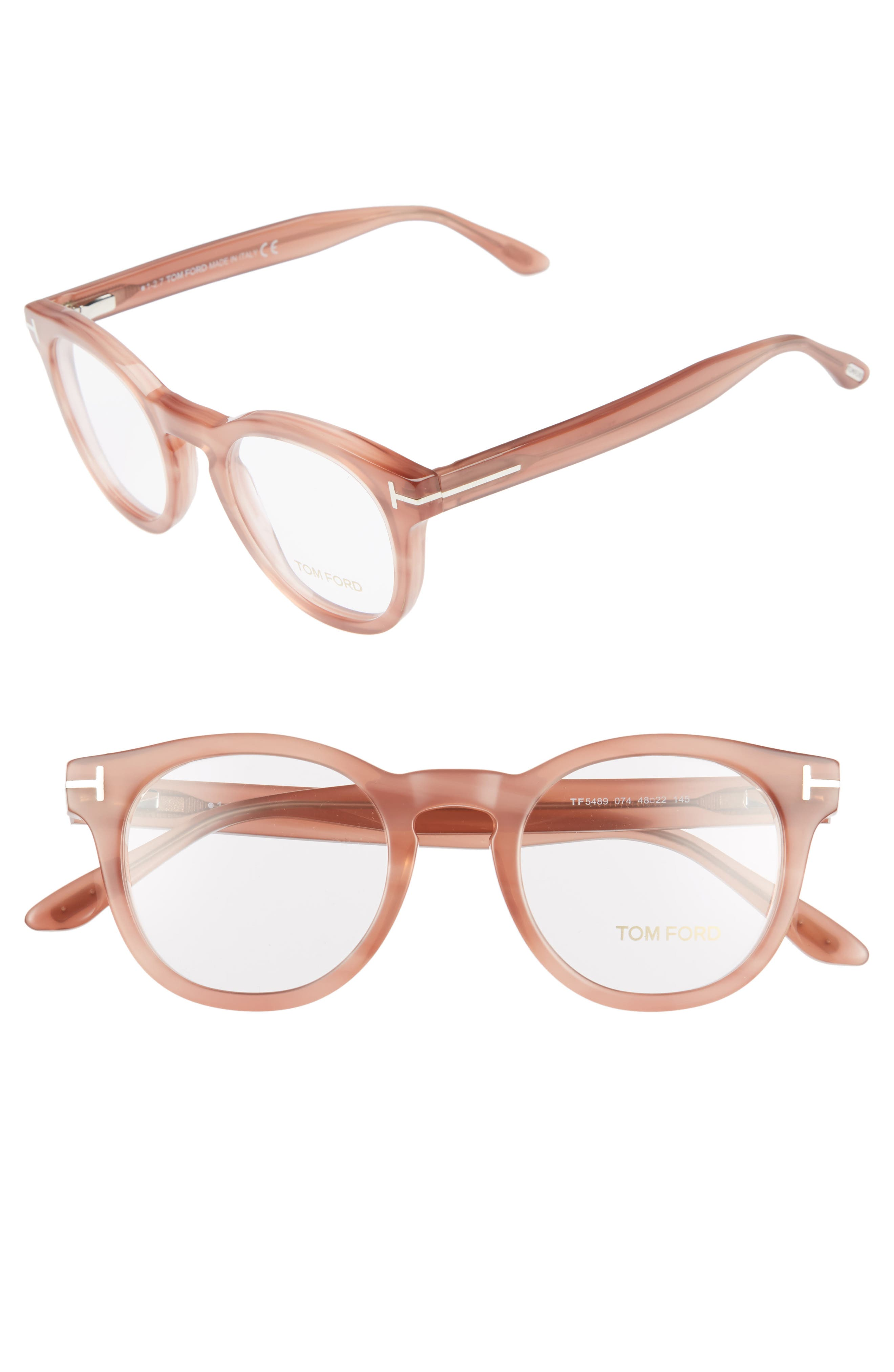 48mm Round Optical Glasses,                             Main thumbnail 3, color,