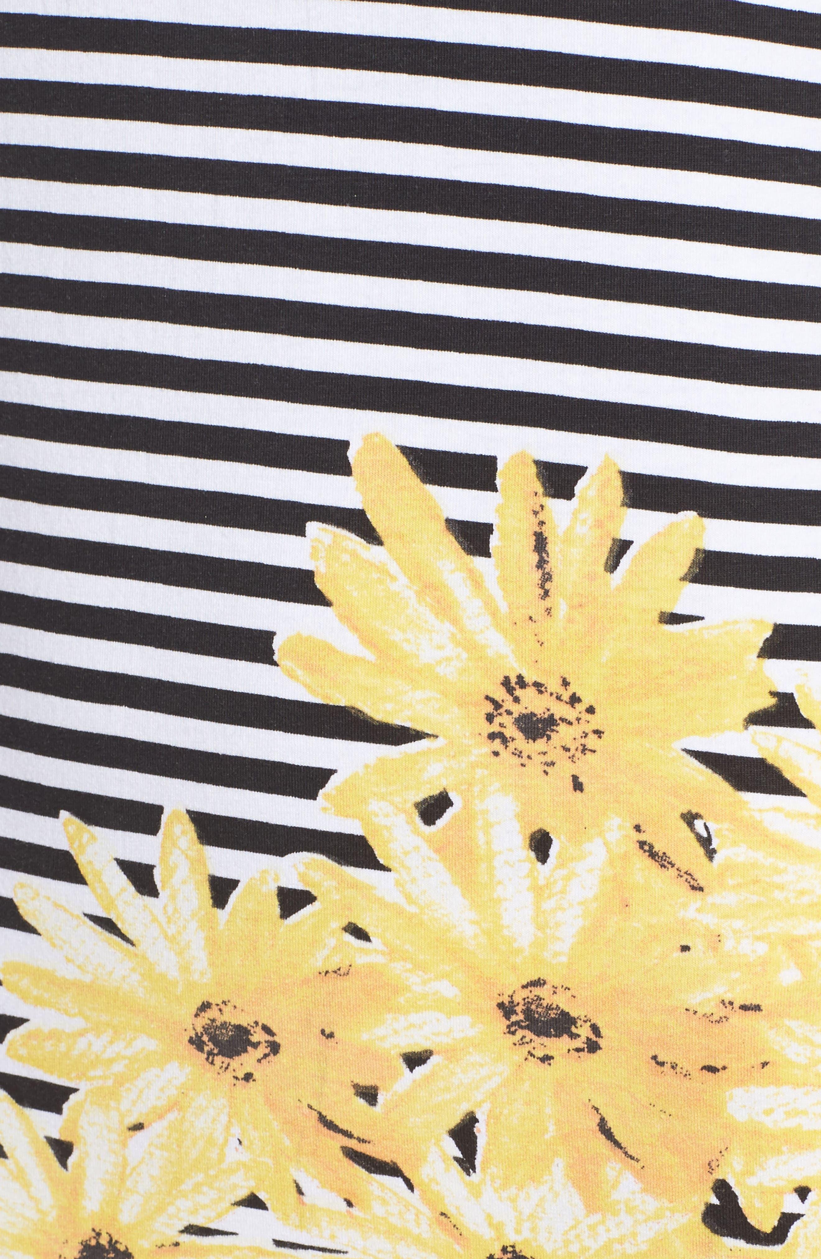 Sunflower Stripe Sheath Dress,                             Alternate thumbnail 6, color,                             007