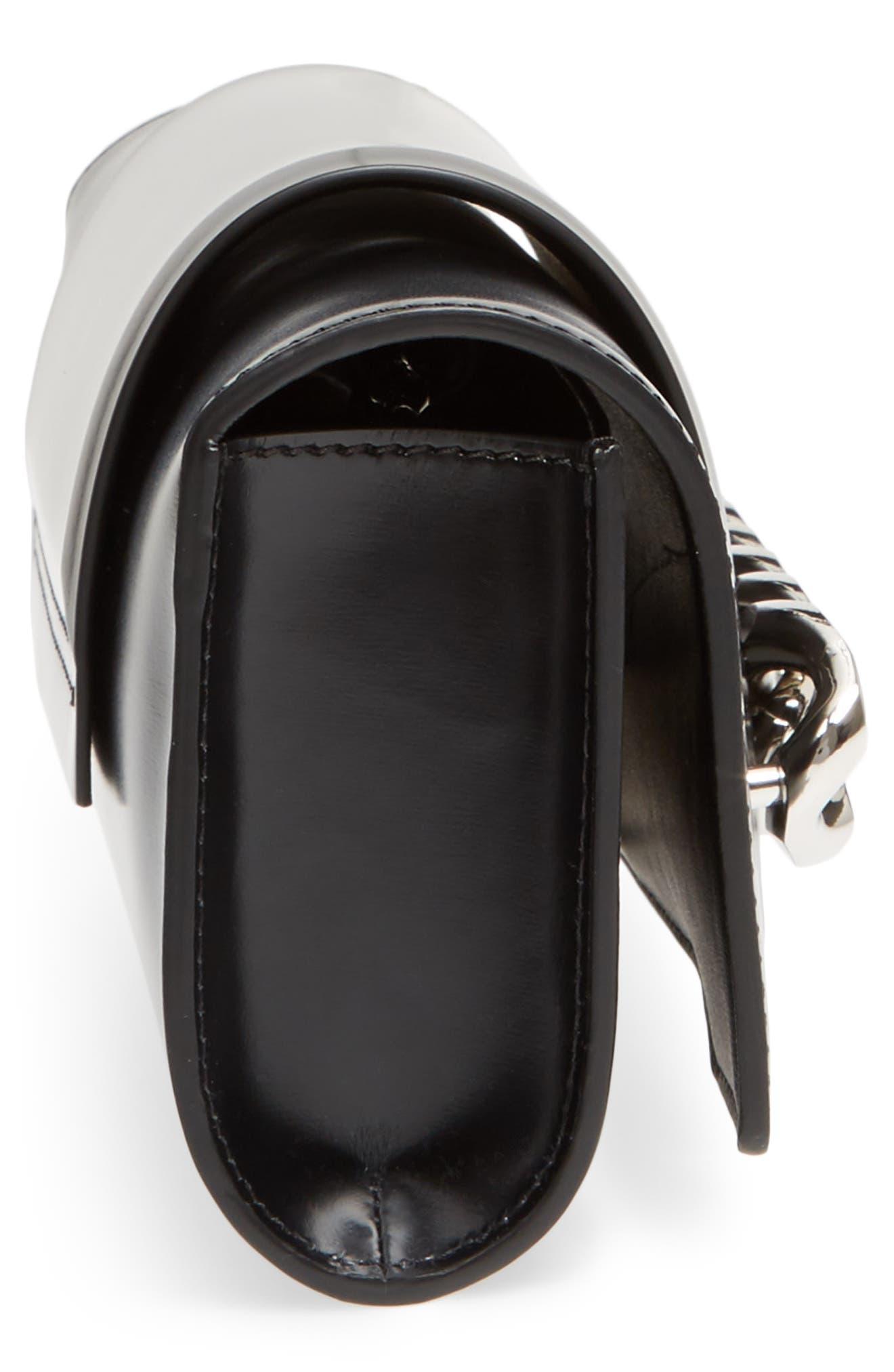 Mini Infinity Calfskin Leather Shoulder/Crossbody Bag,                             Alternate thumbnail 9, color,