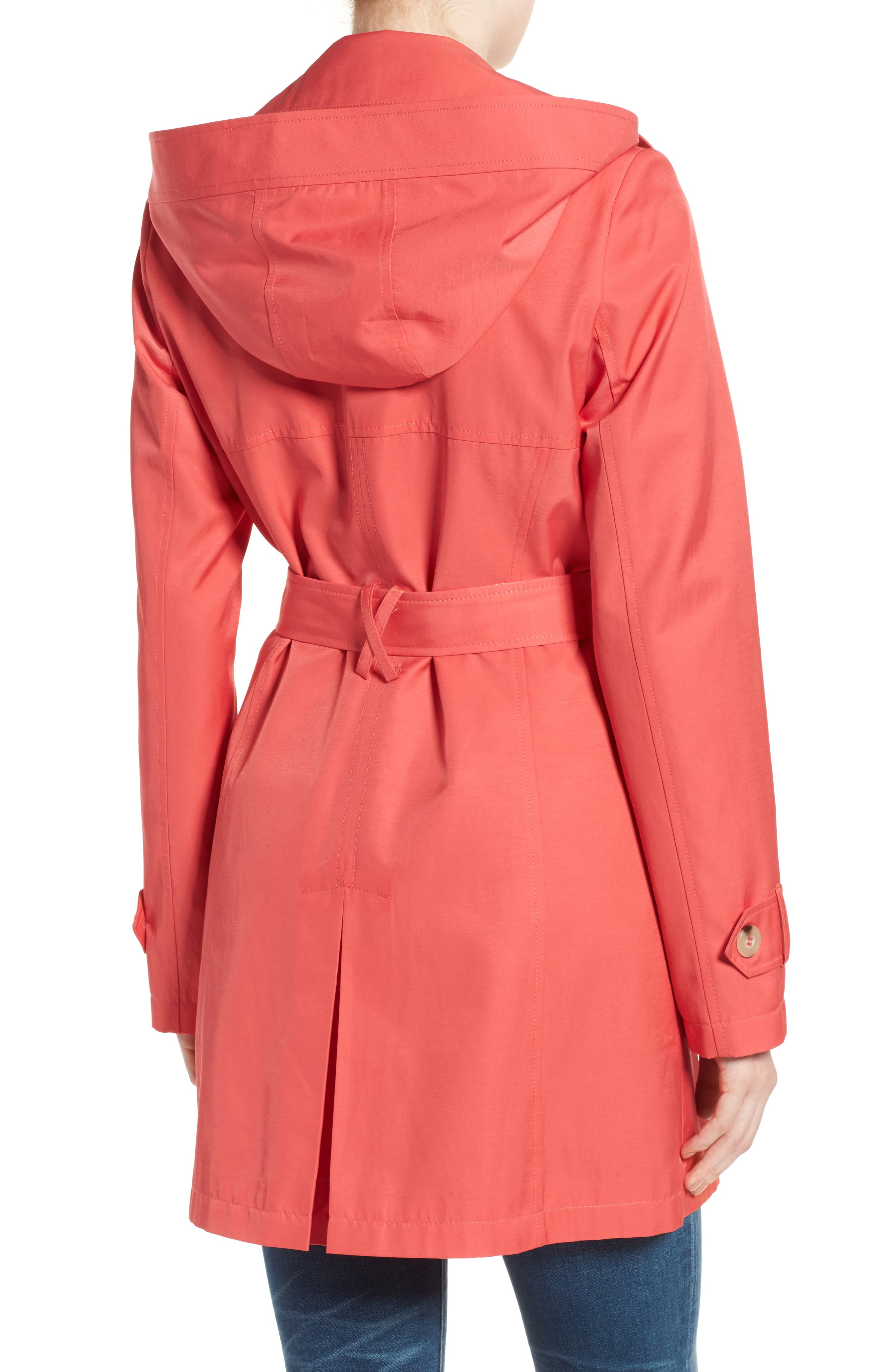 Detachable Hood Trench Coat,                             Alternate thumbnail 17, color,
